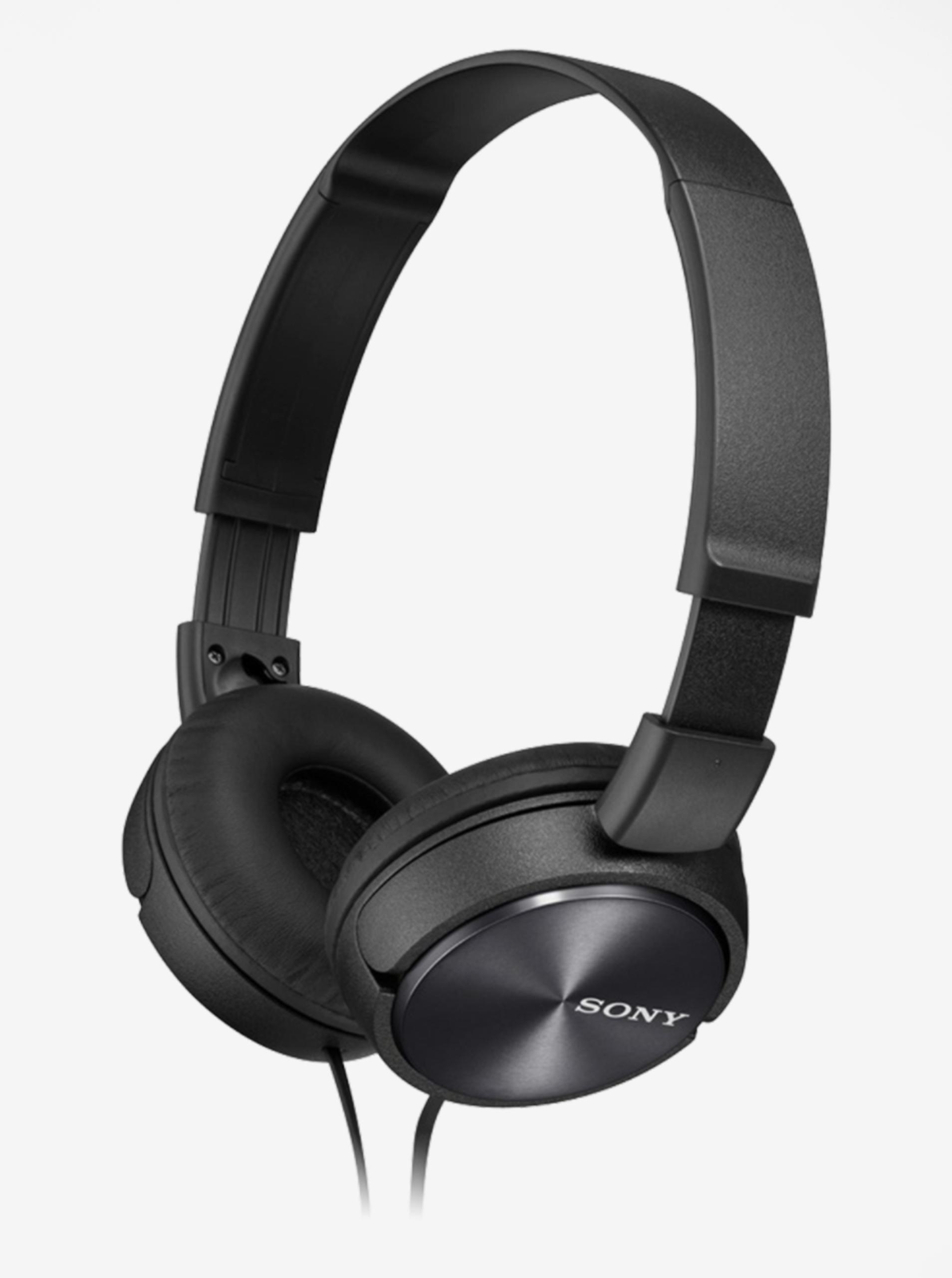 Černá skládací sluchátka Sony