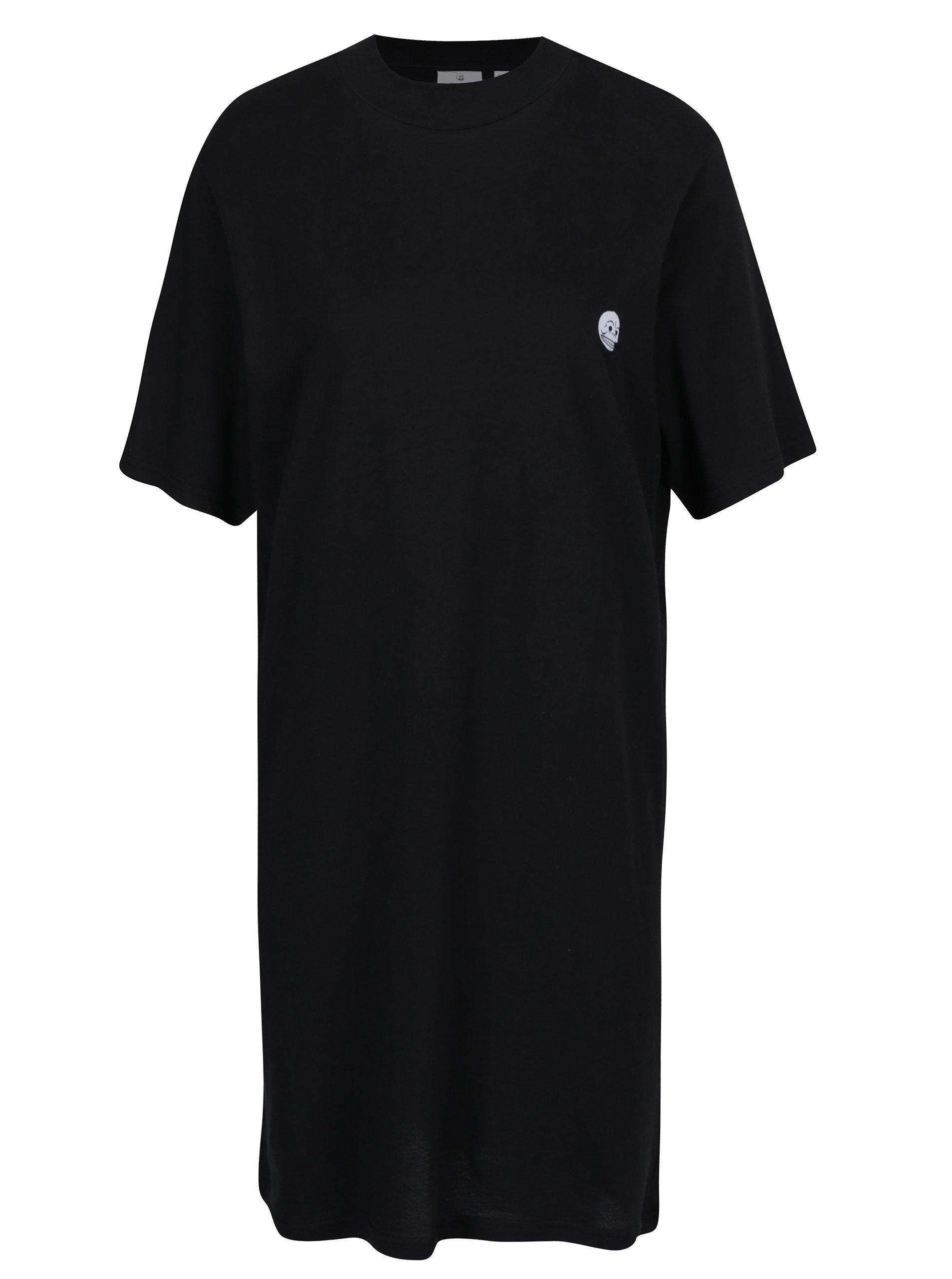 Černé šaty s krátkým rukávem Cheap Monday