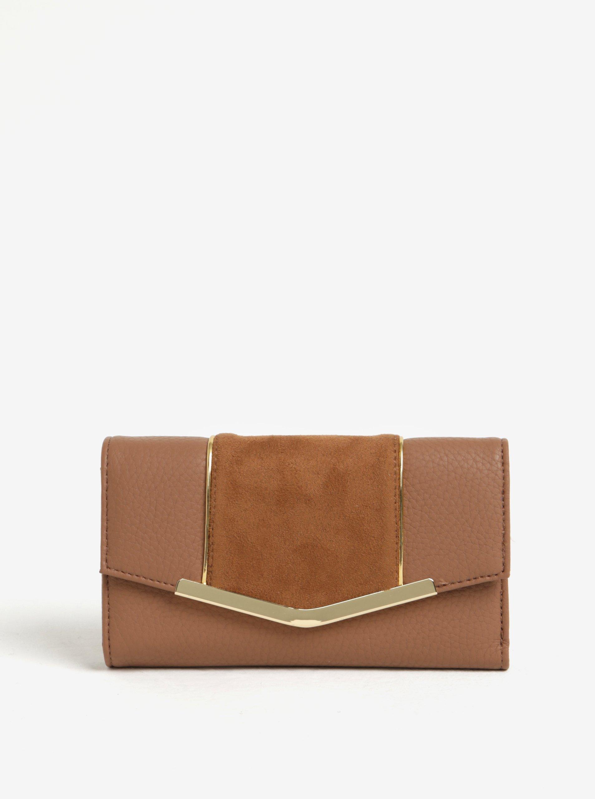 Hnědá peněženka s klopou Bessie London