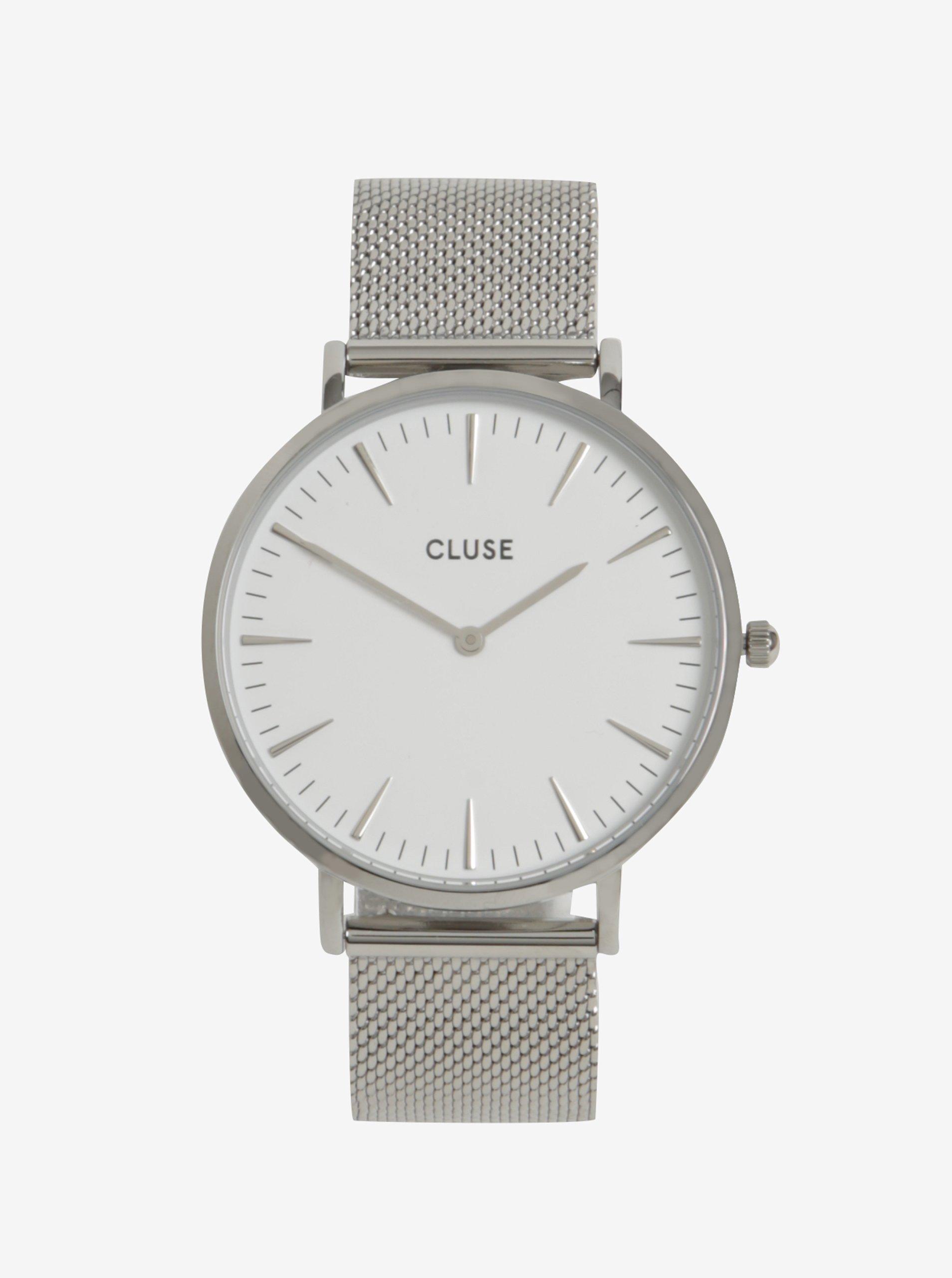 Dámské hodinky ve stříbrné barvě CLUSE
