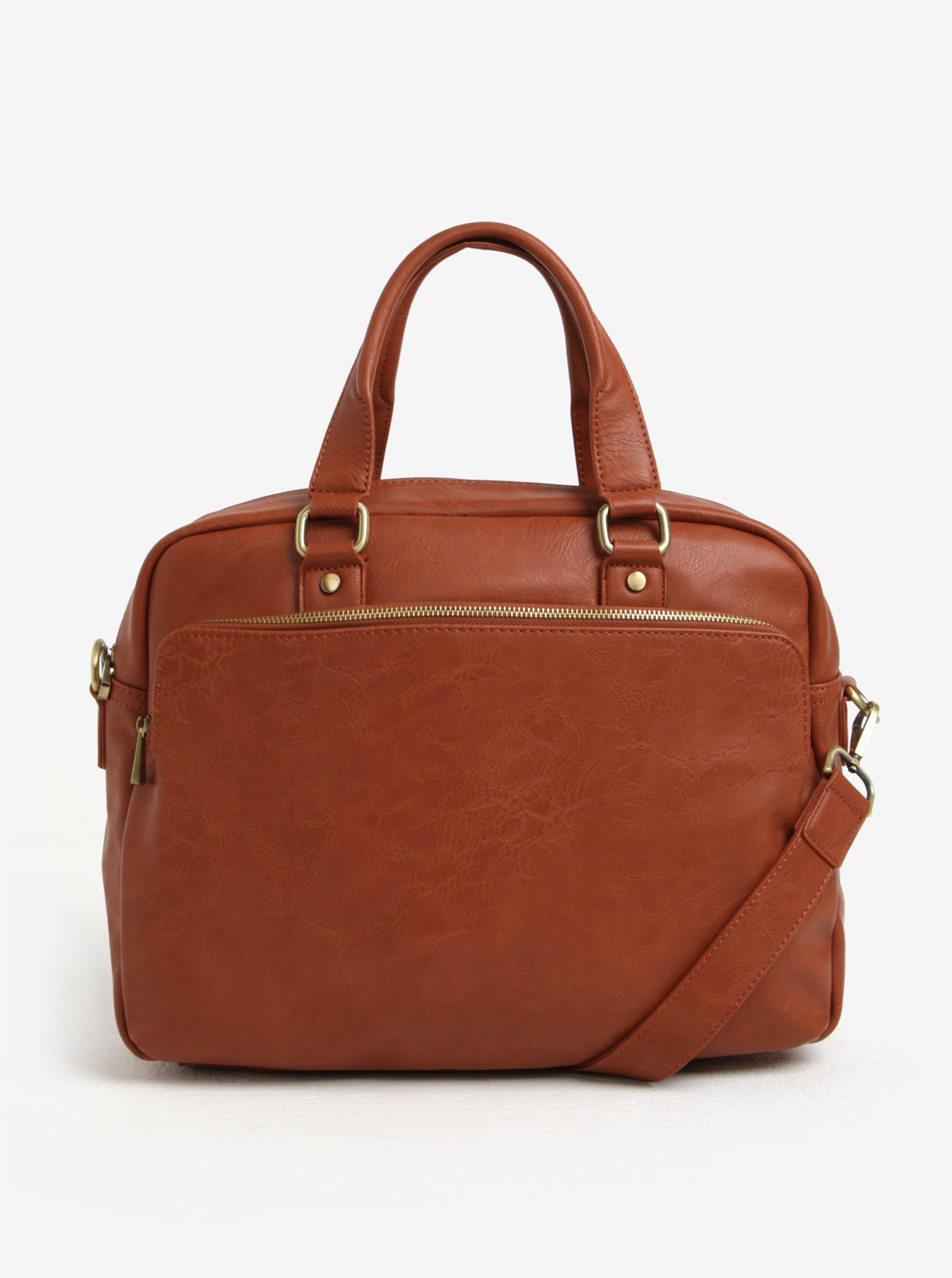 """Hnedá pánska taška na notebook s vreckom Bobby Black 15"""""""
