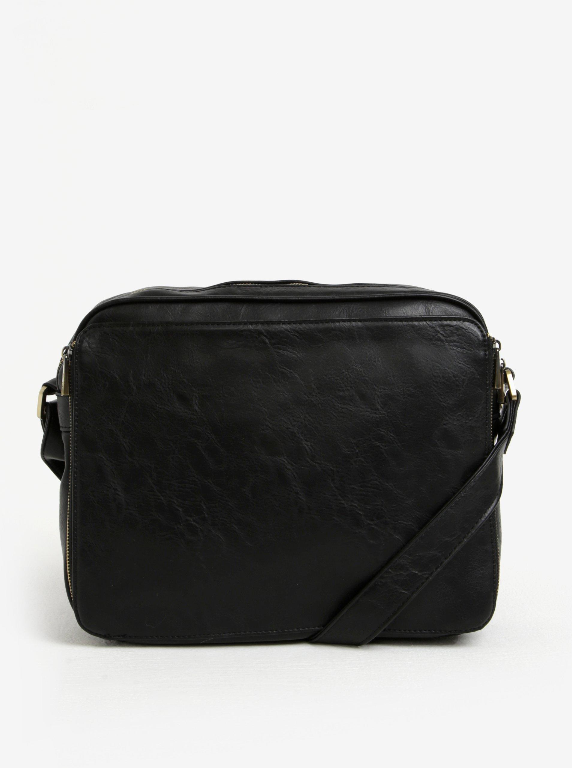 Černá taška přes rameno s detaily ve zlaté barvě Bobby Black 070bb77fb4e