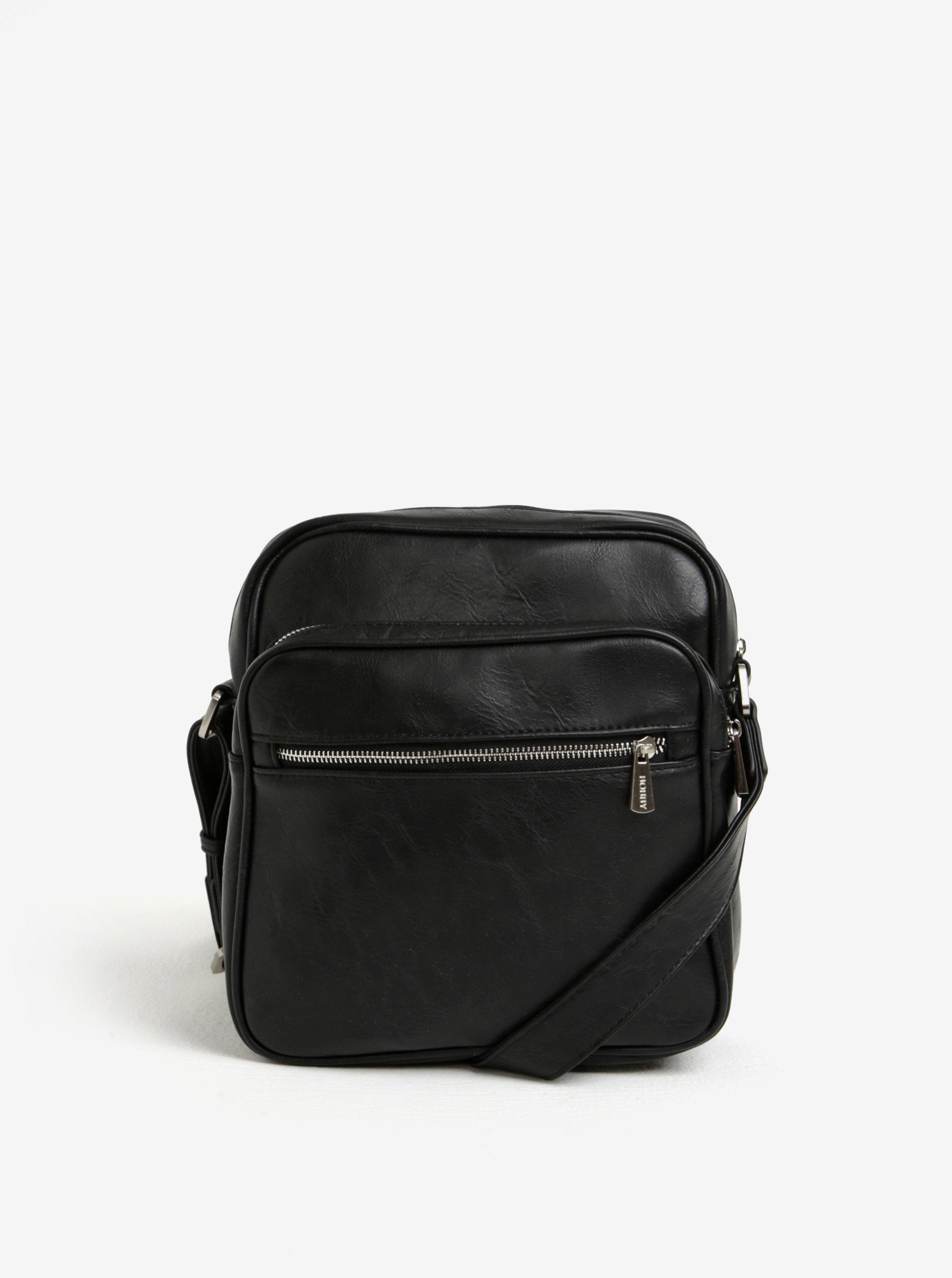 Černá malá crossbody taška s kapsou Bobby Black
