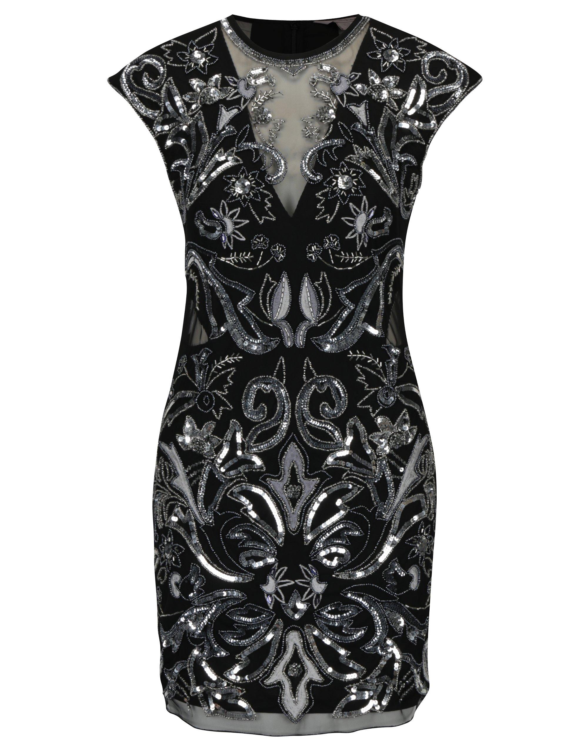 a57107d4efd0 Čierne šaty s flitrami