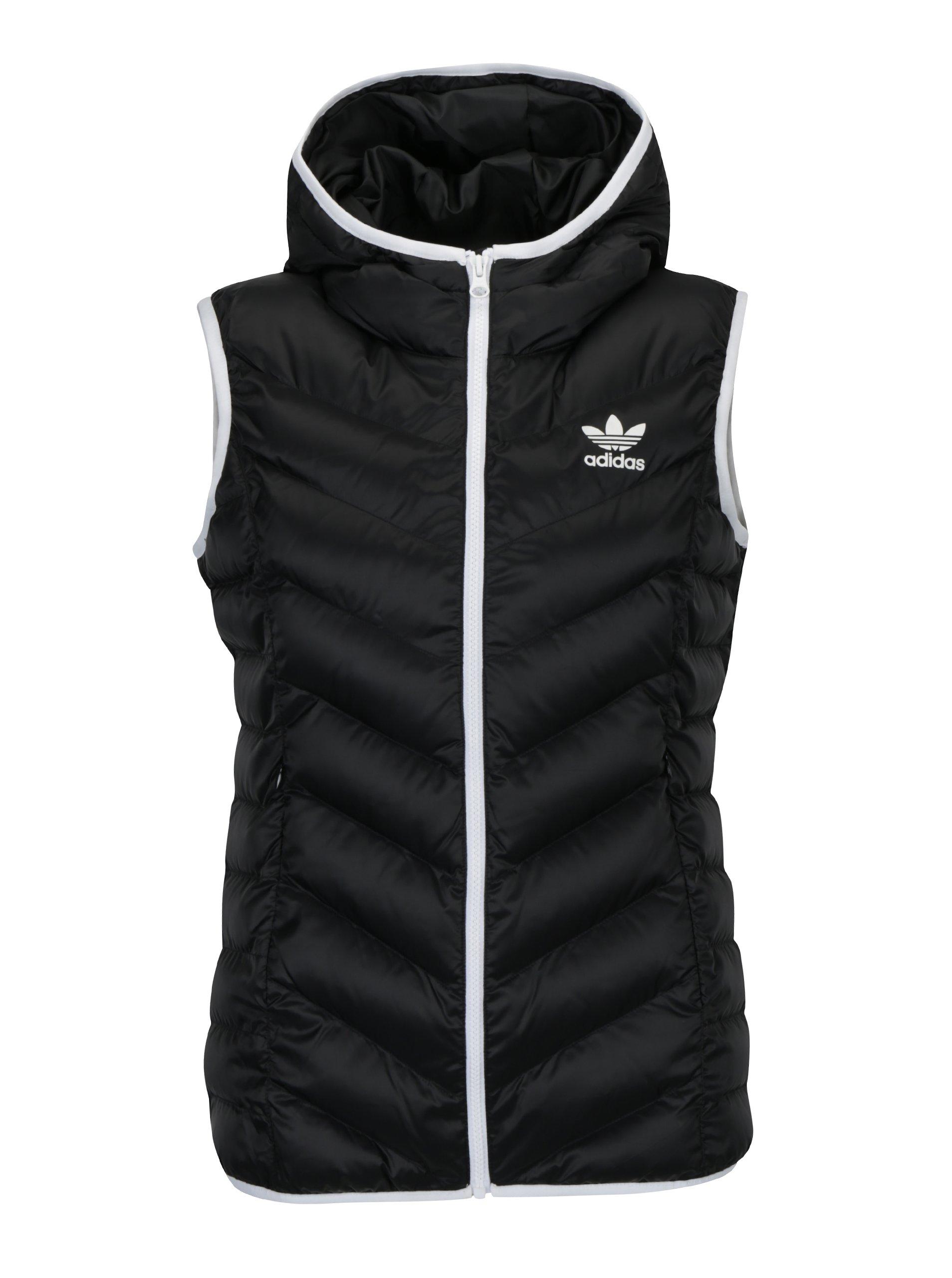 Čierna dámska prešívaná vesta adidas Originals