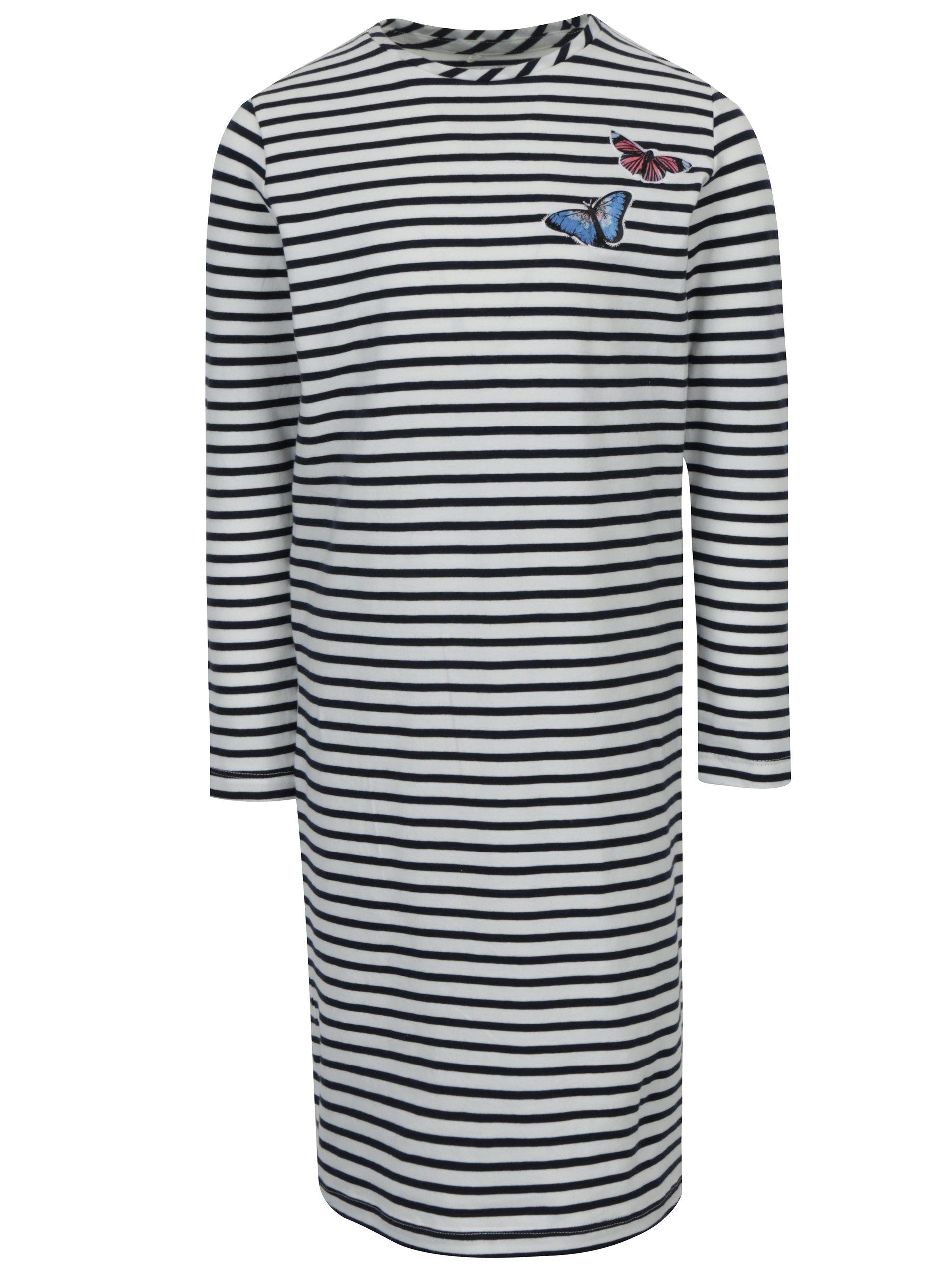 a691aed9fbbf Modro–biele pruhované šaty name it Kasja