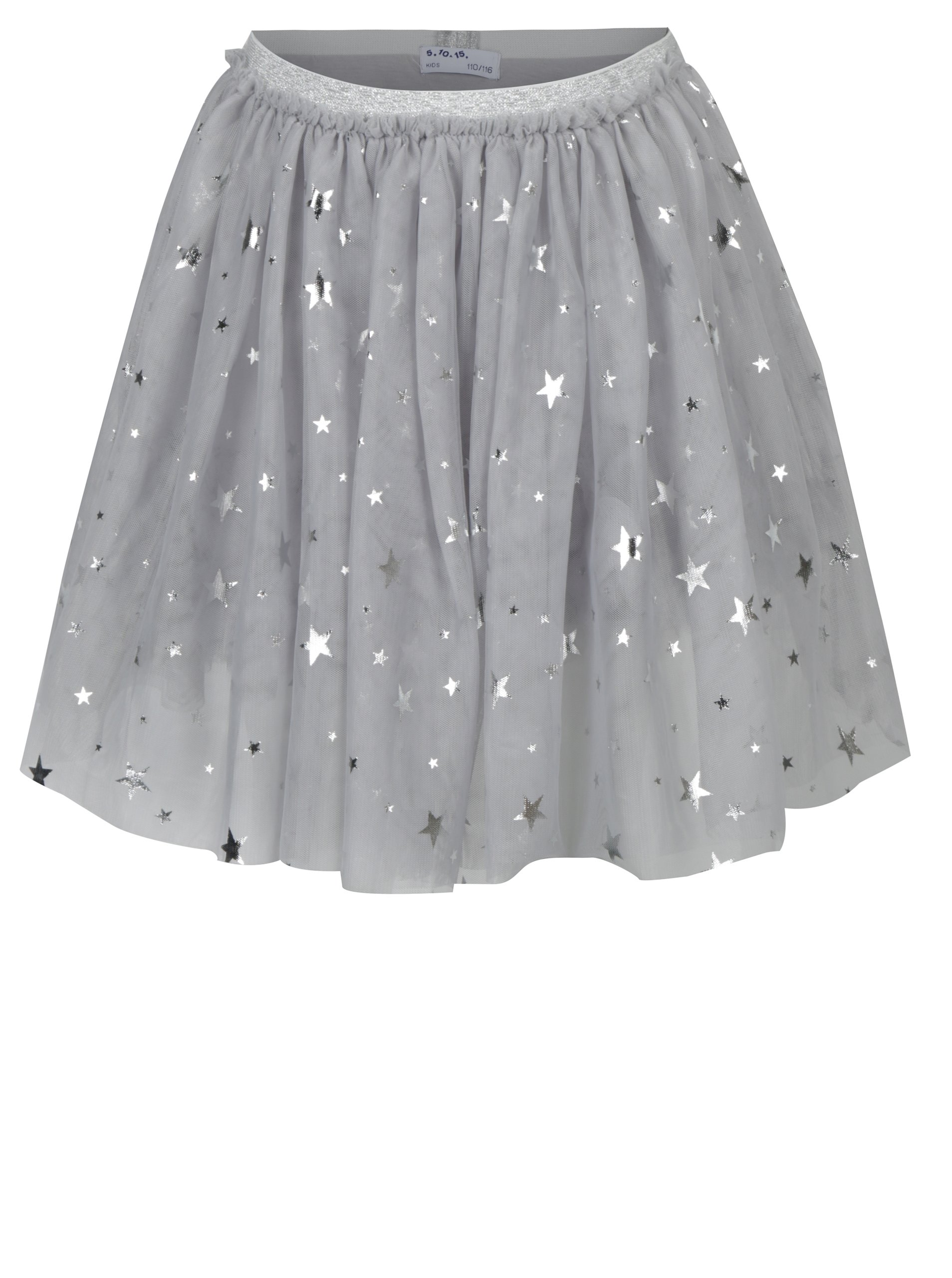 Světle šedá holčičí tylová sukně s hvězdami 5.10.15.