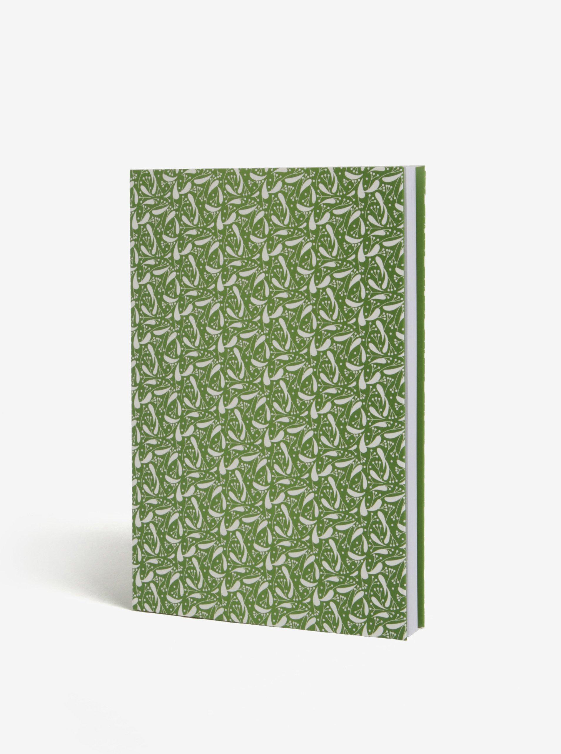Zelený nelinkovaný blok Lípa A5
