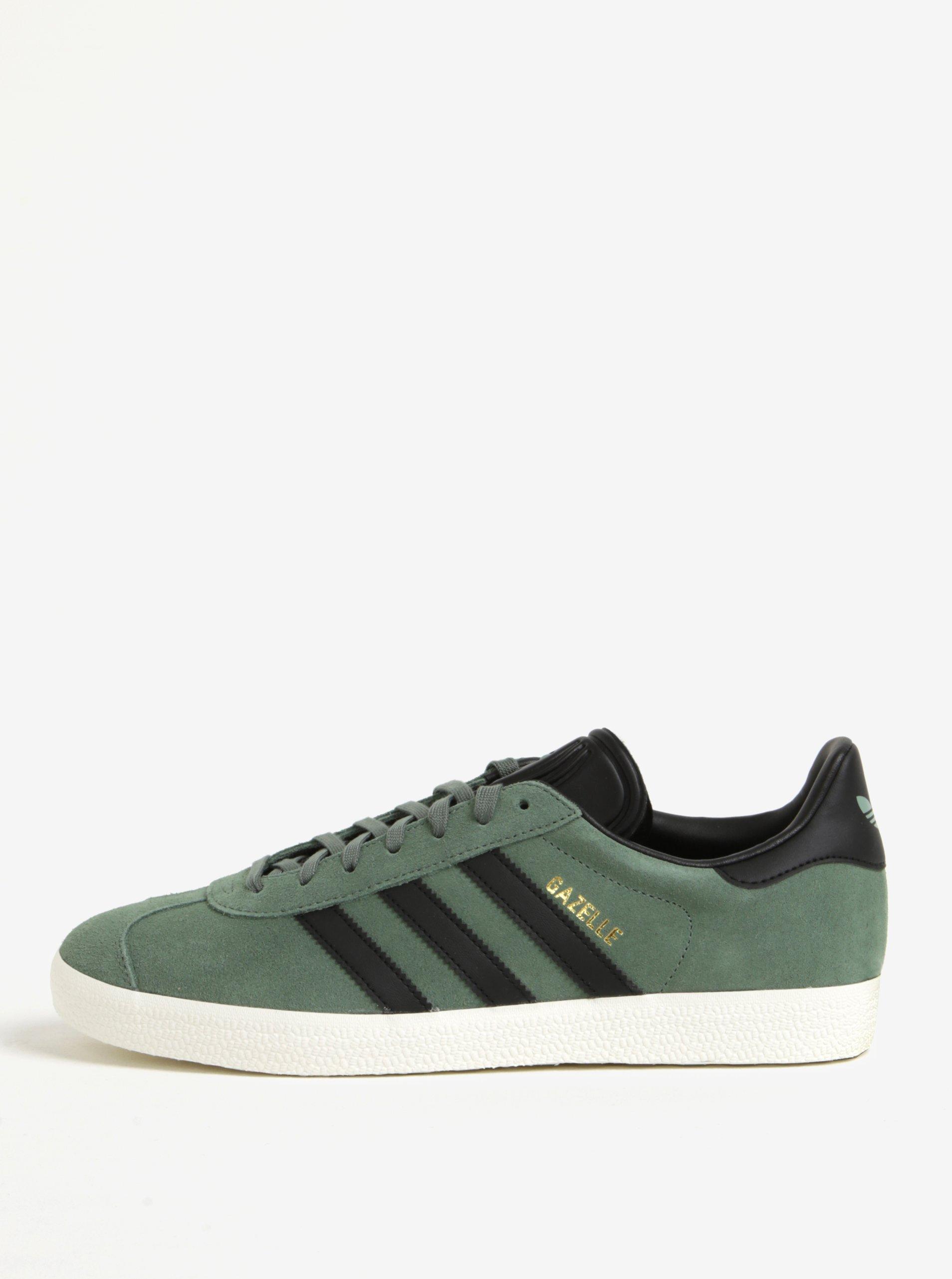 Zelené pánské semišové tenisky adidas Originals Gazelle