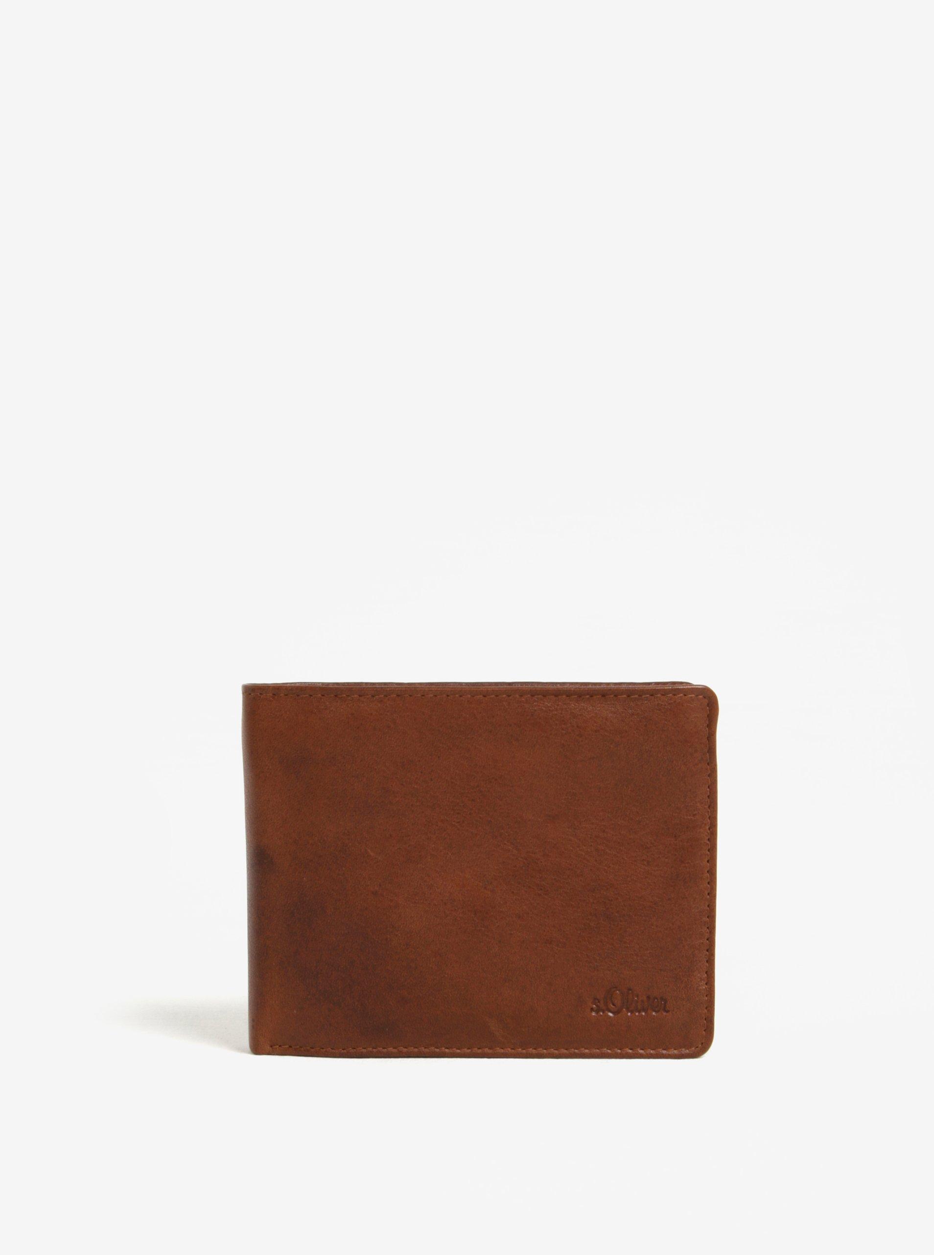 Hnědá pánská kožená peněženka s.Oliver
