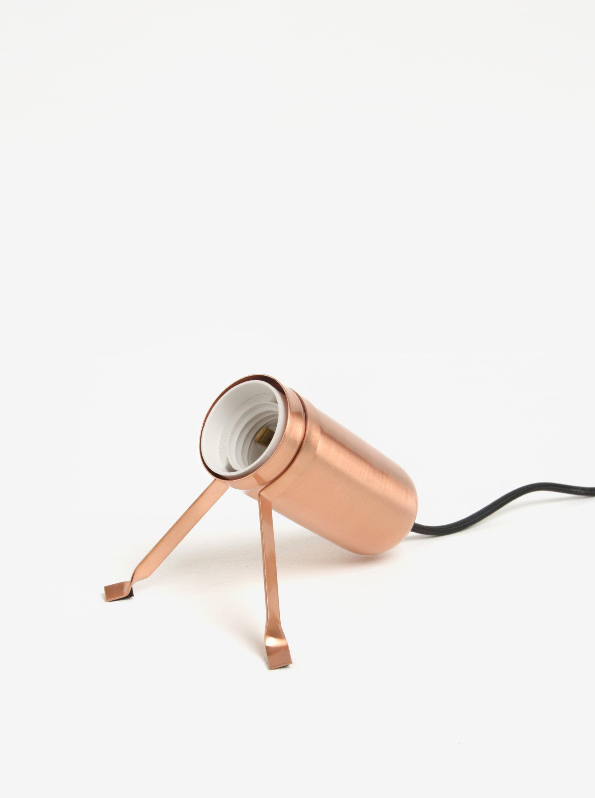 Stolní lampa v měděné barvě BUTLERS