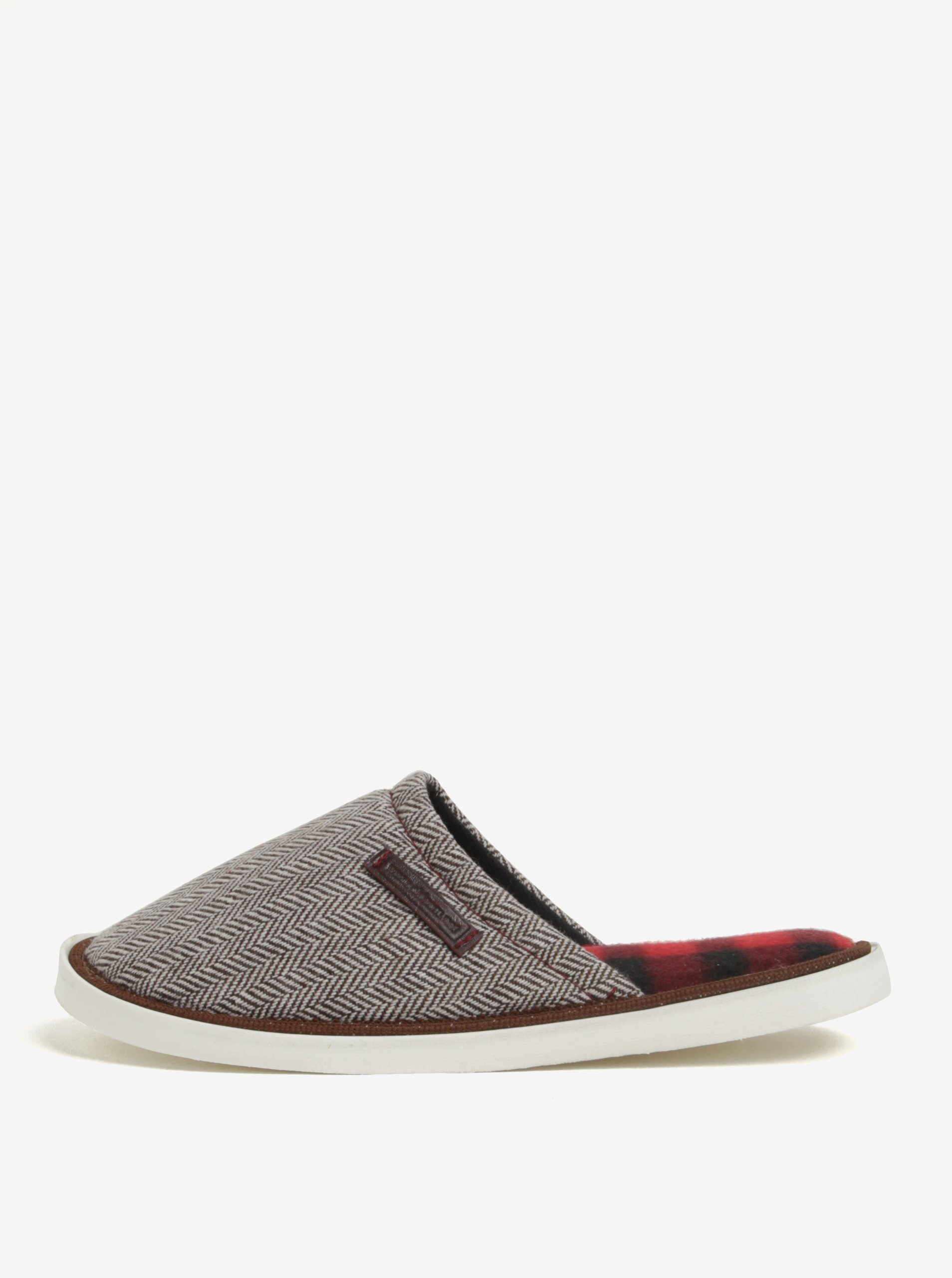 Krémovo-hnědé unisex vzorované papuče Oldcom Luxhome