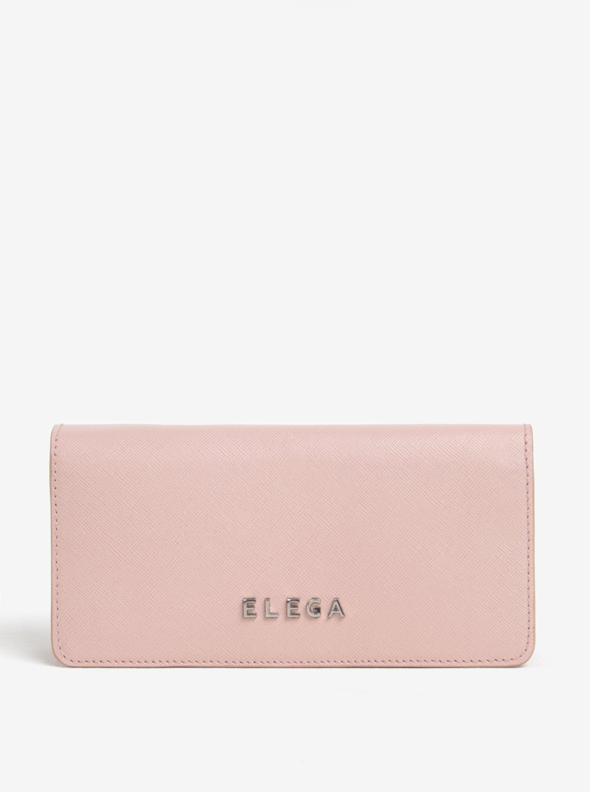 Růžová dámská kožená peněženka ELEGA Amina