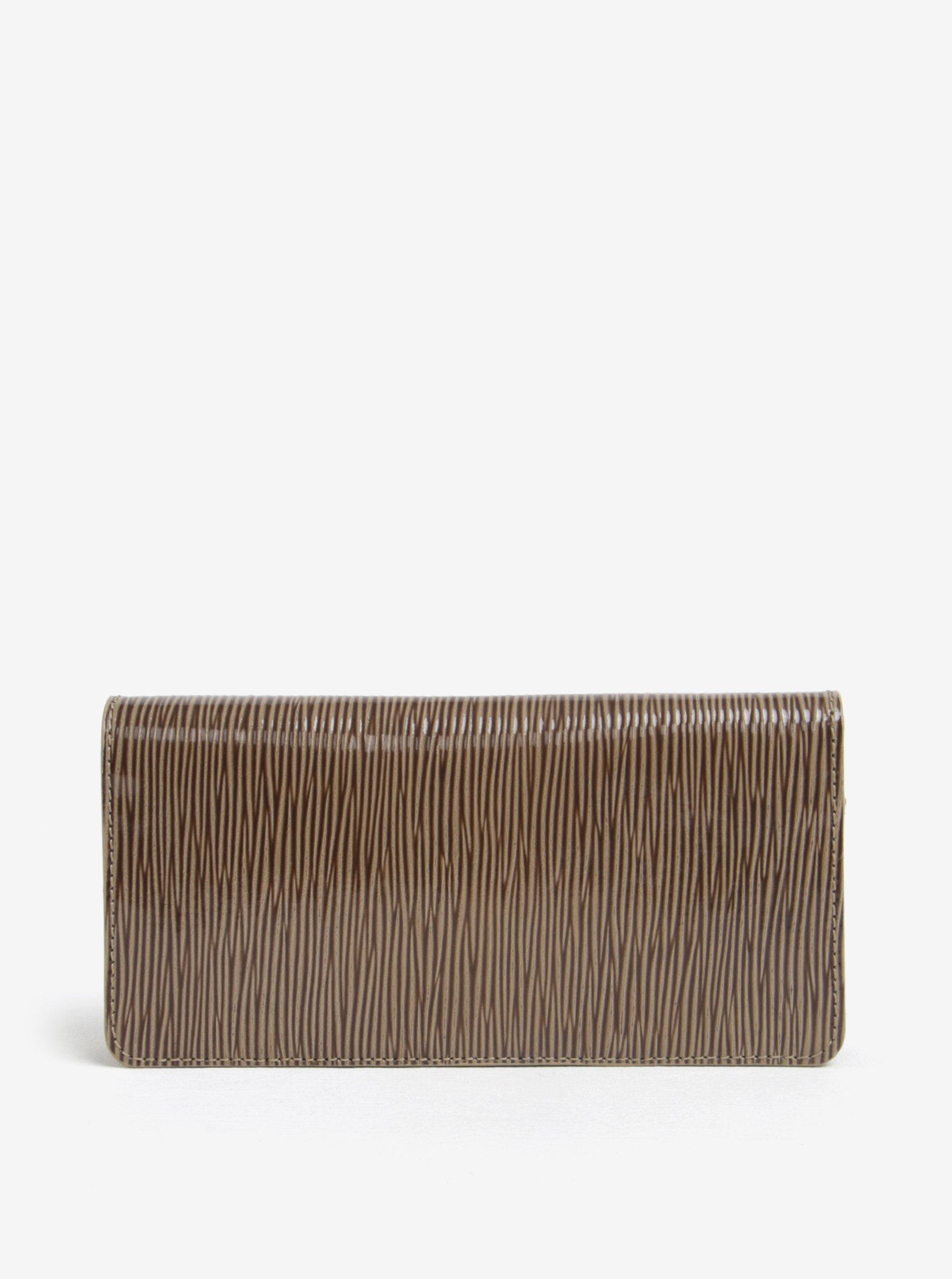 Hnedá dámska kožená vzorovaná peňaženka ELEGA Amina