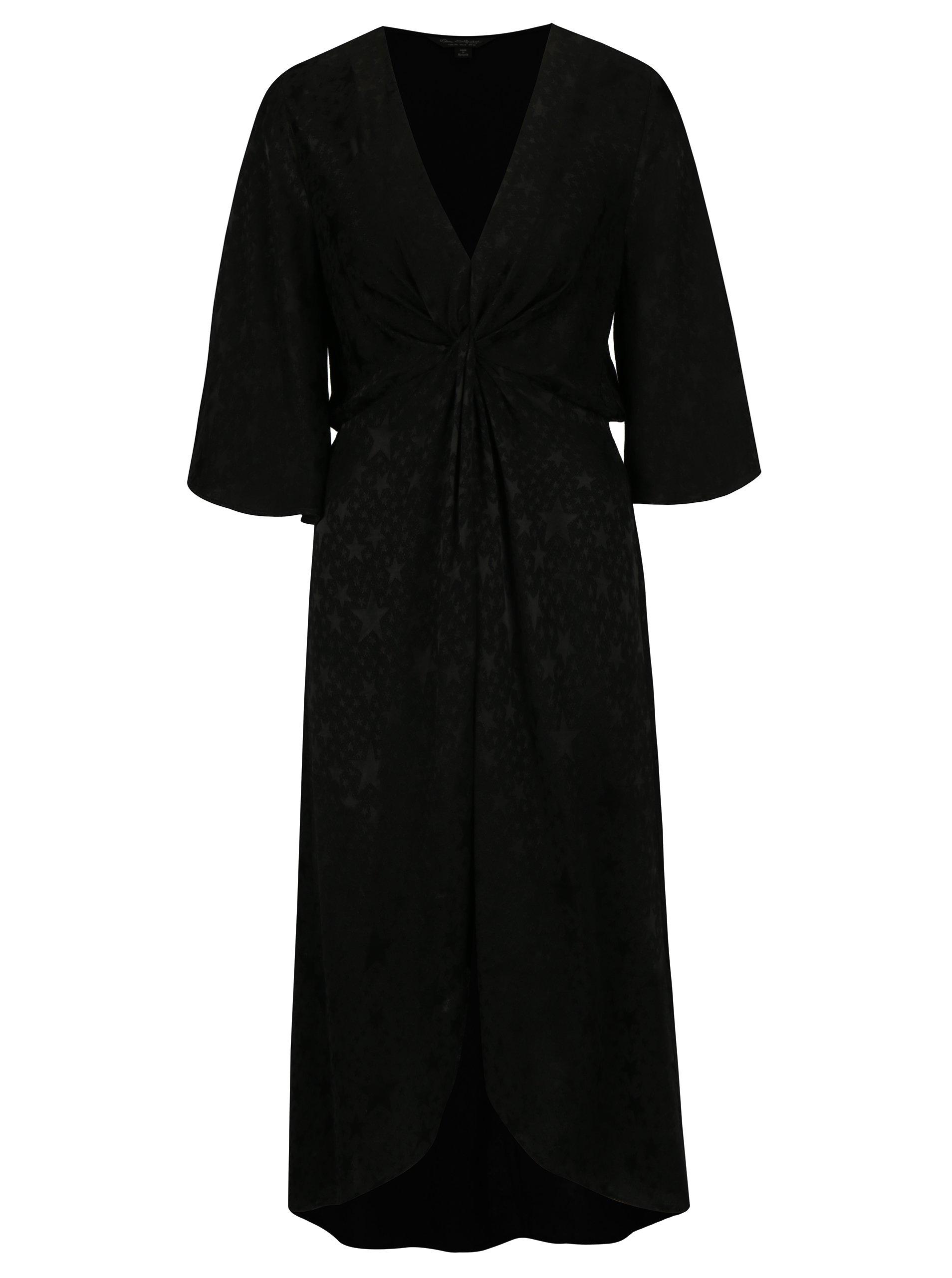 5add99305848 Černé vzorované šaty Miss Selfridge