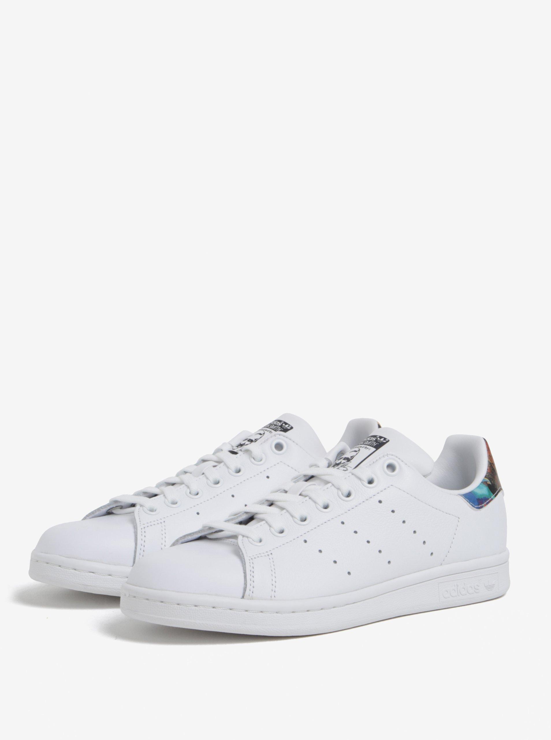 Bílé dámské tenisky s barevným detailem adidas Originals Stan Smith ... 38116fda3d5