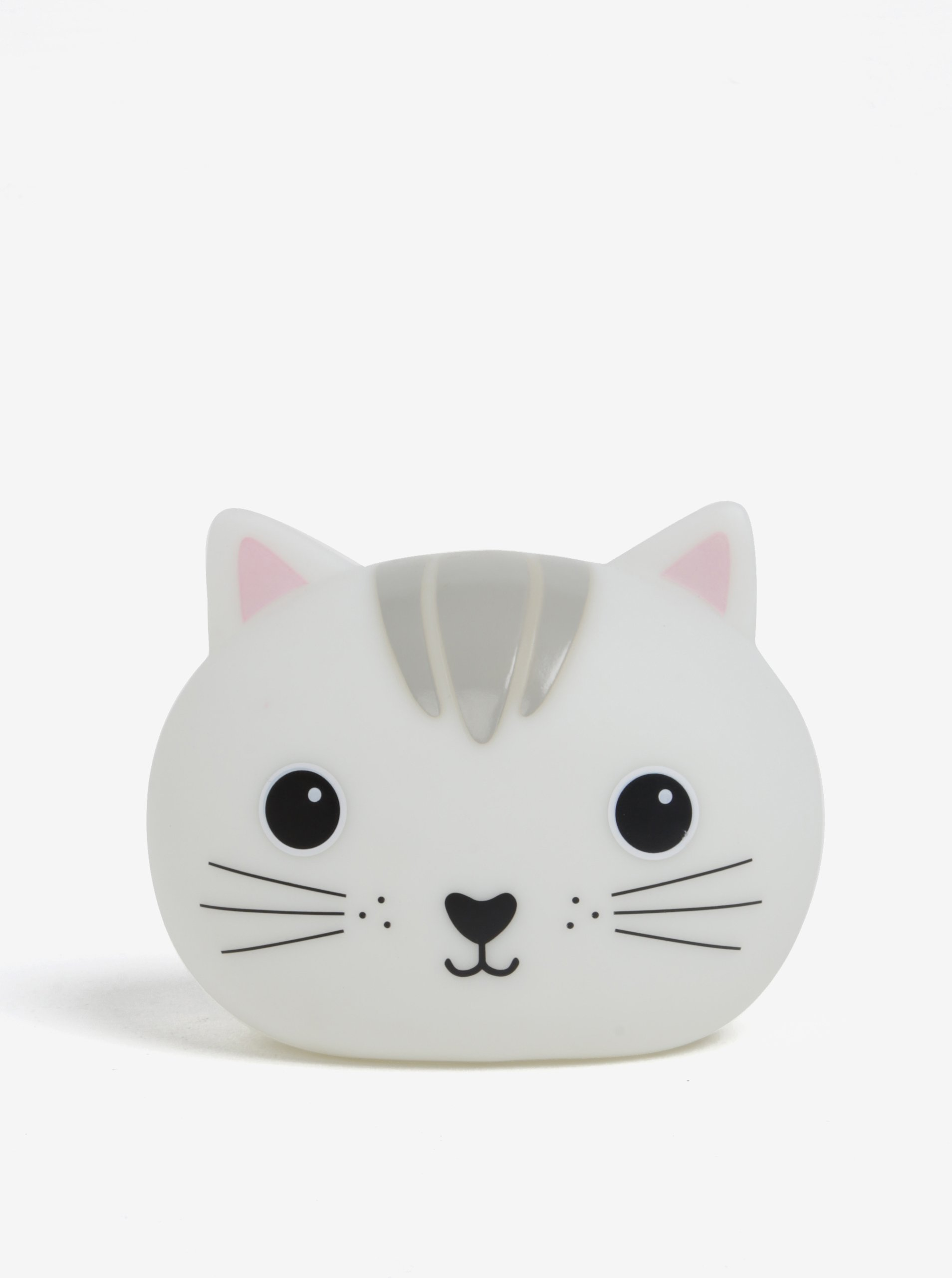 Sivá nočná LED lampička v tvare mačky Sass & Belle