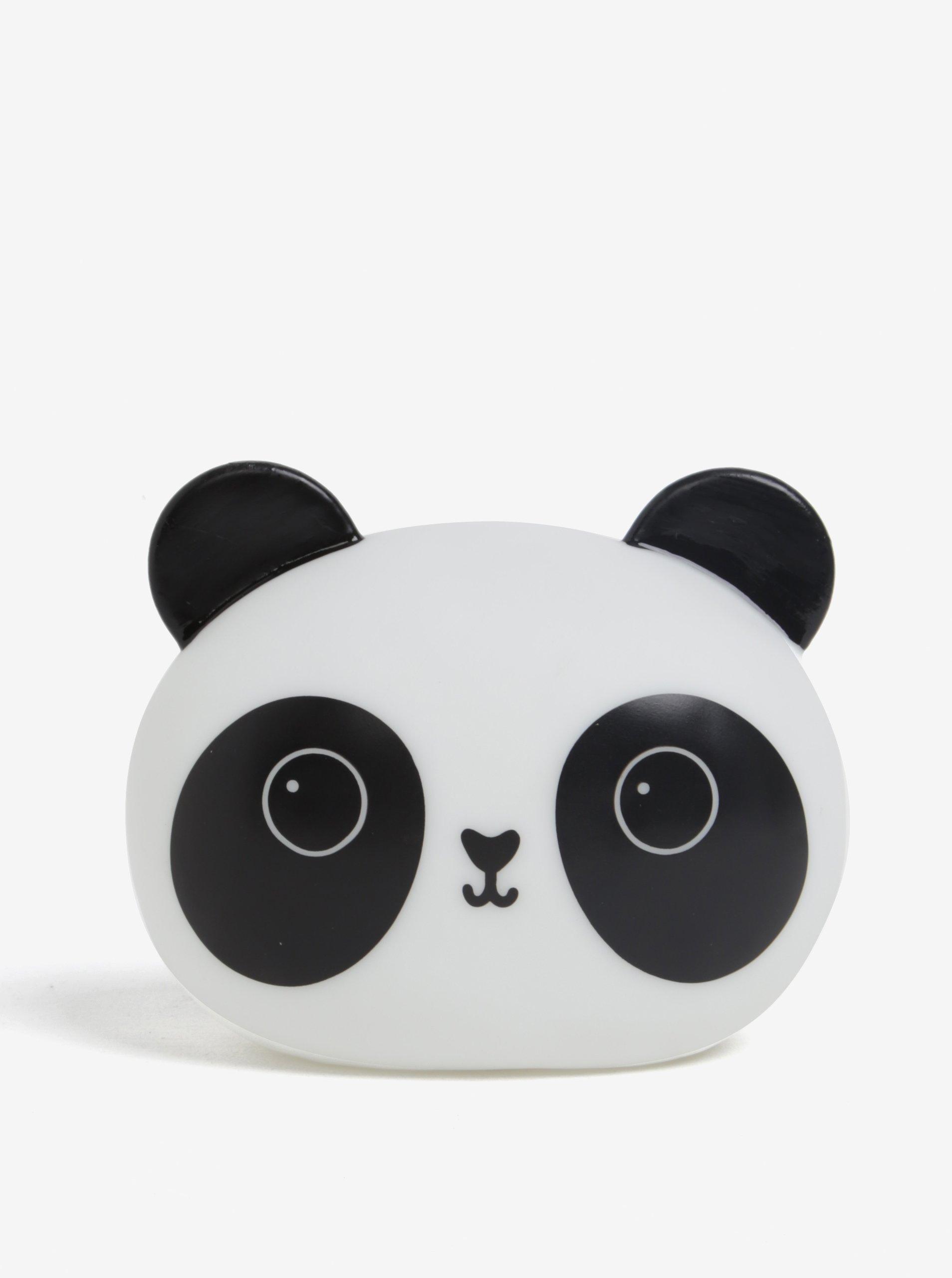Bílo-černá noční LED lampička ve tvaru pandy Sass & Belle