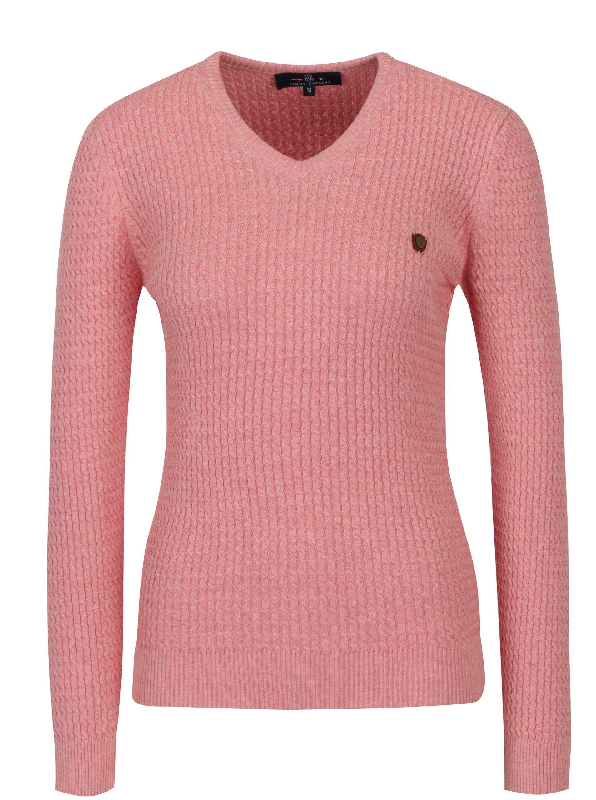Růžový dámský svetr Jimmy Sanders