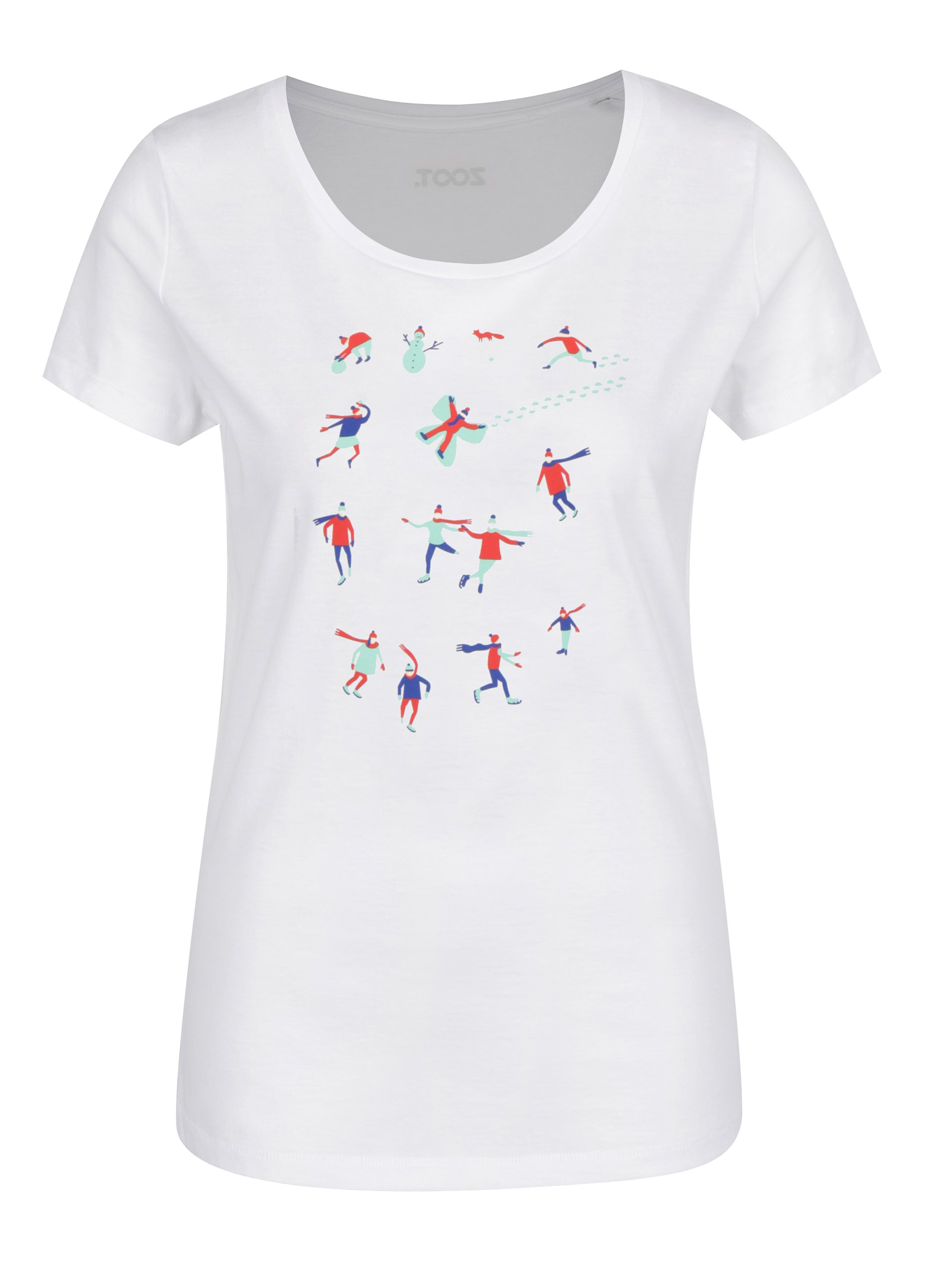 Bílé dámské tričko ZOOT Original Sáňkaři