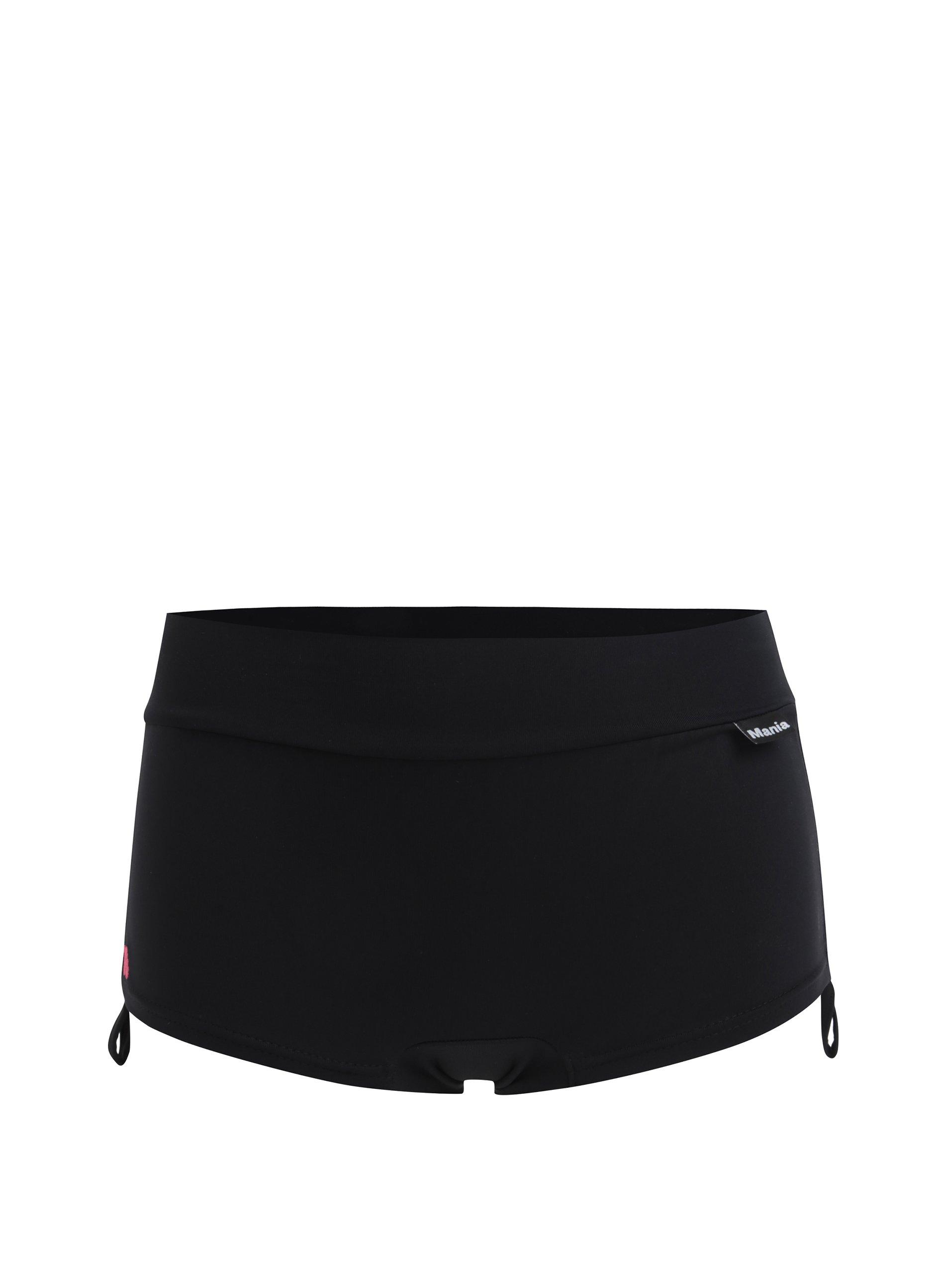 Čierne športové kraťasy so sťahovaním na bokoch Mania fitness wear Embrace