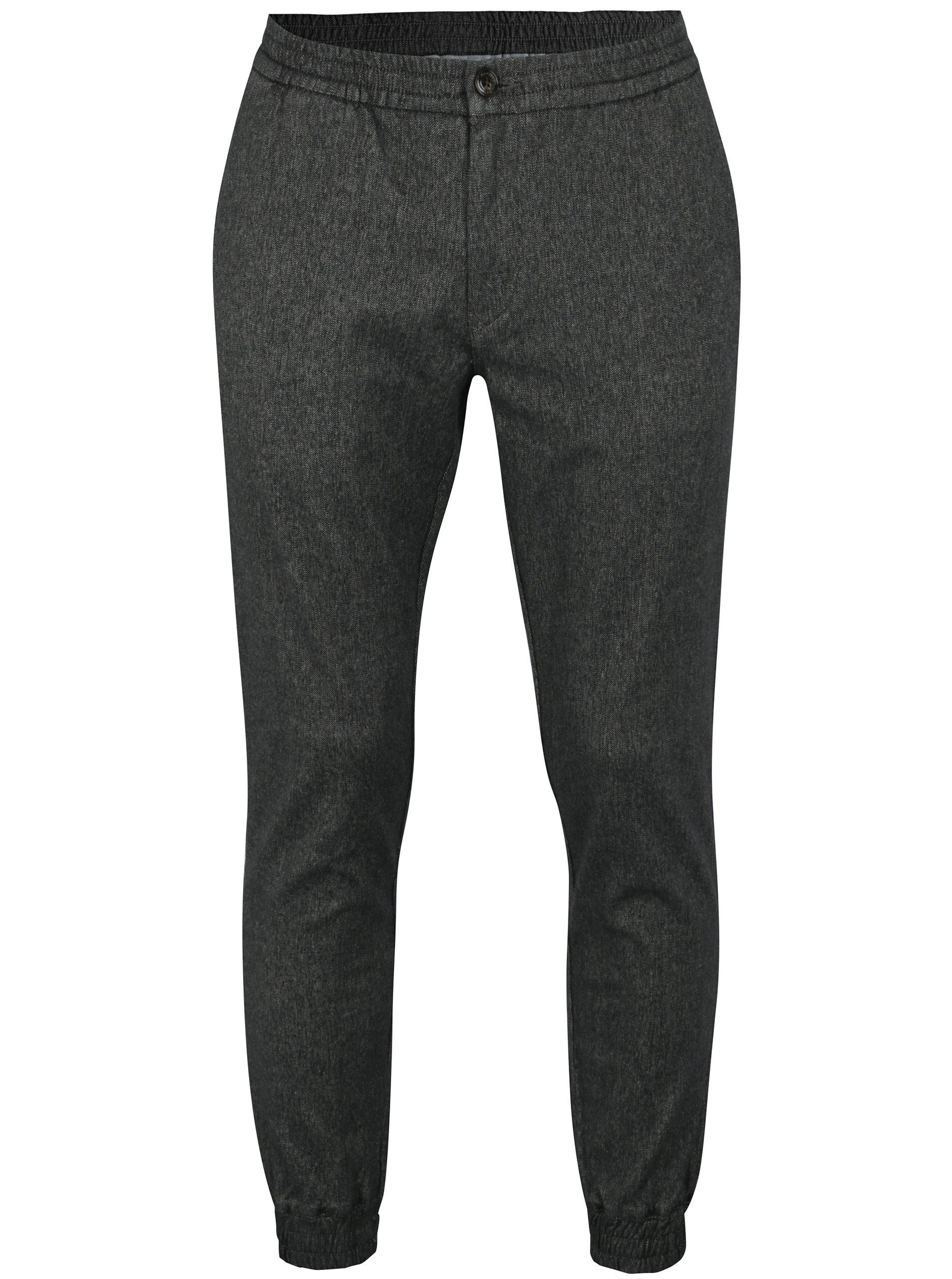 b540cee0a343 Tmavosivé melírované pánske nohavice Tommy Hilfiger Active