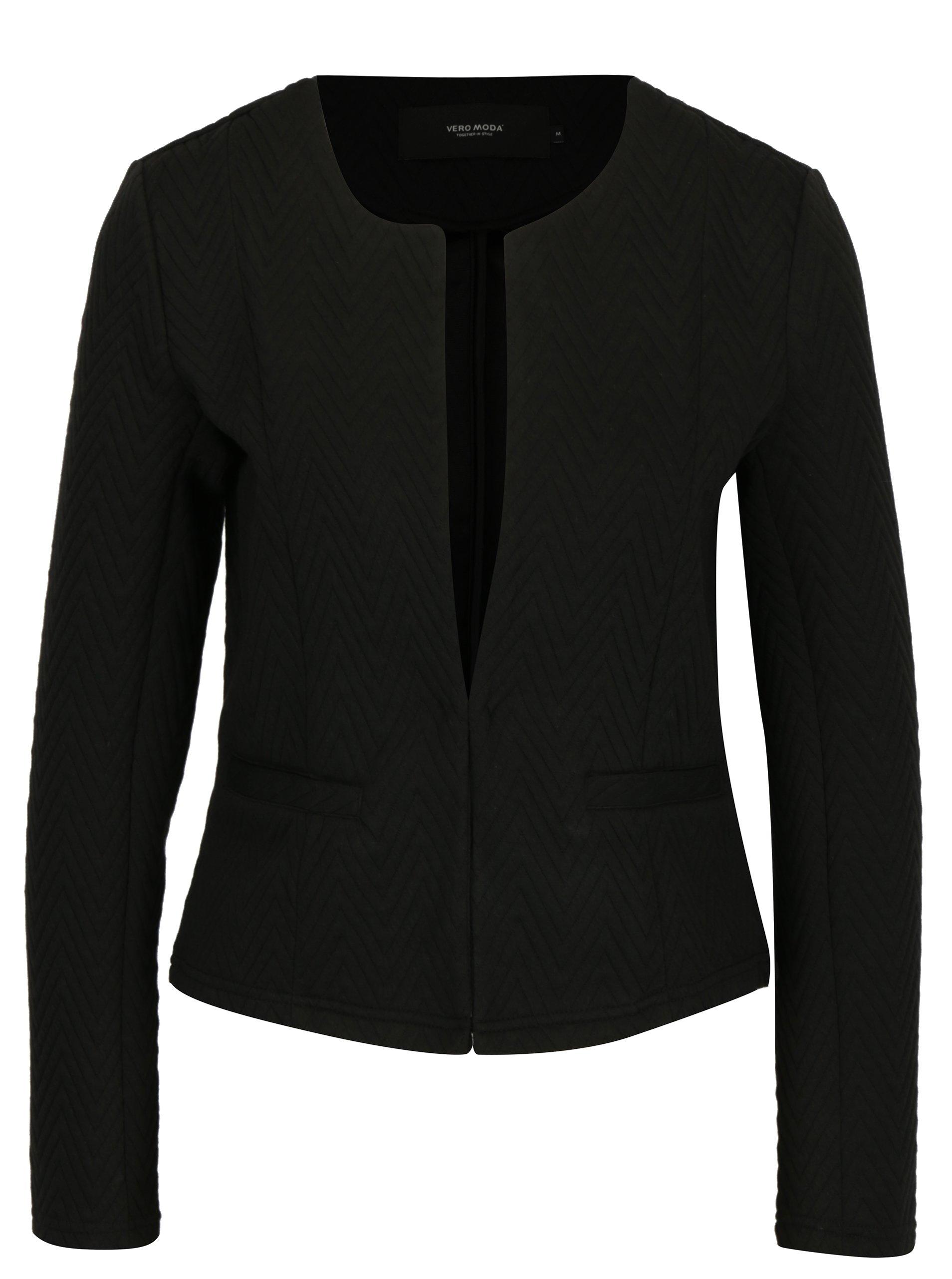 Černé sako s drobným vzorem VERO MODA Mia