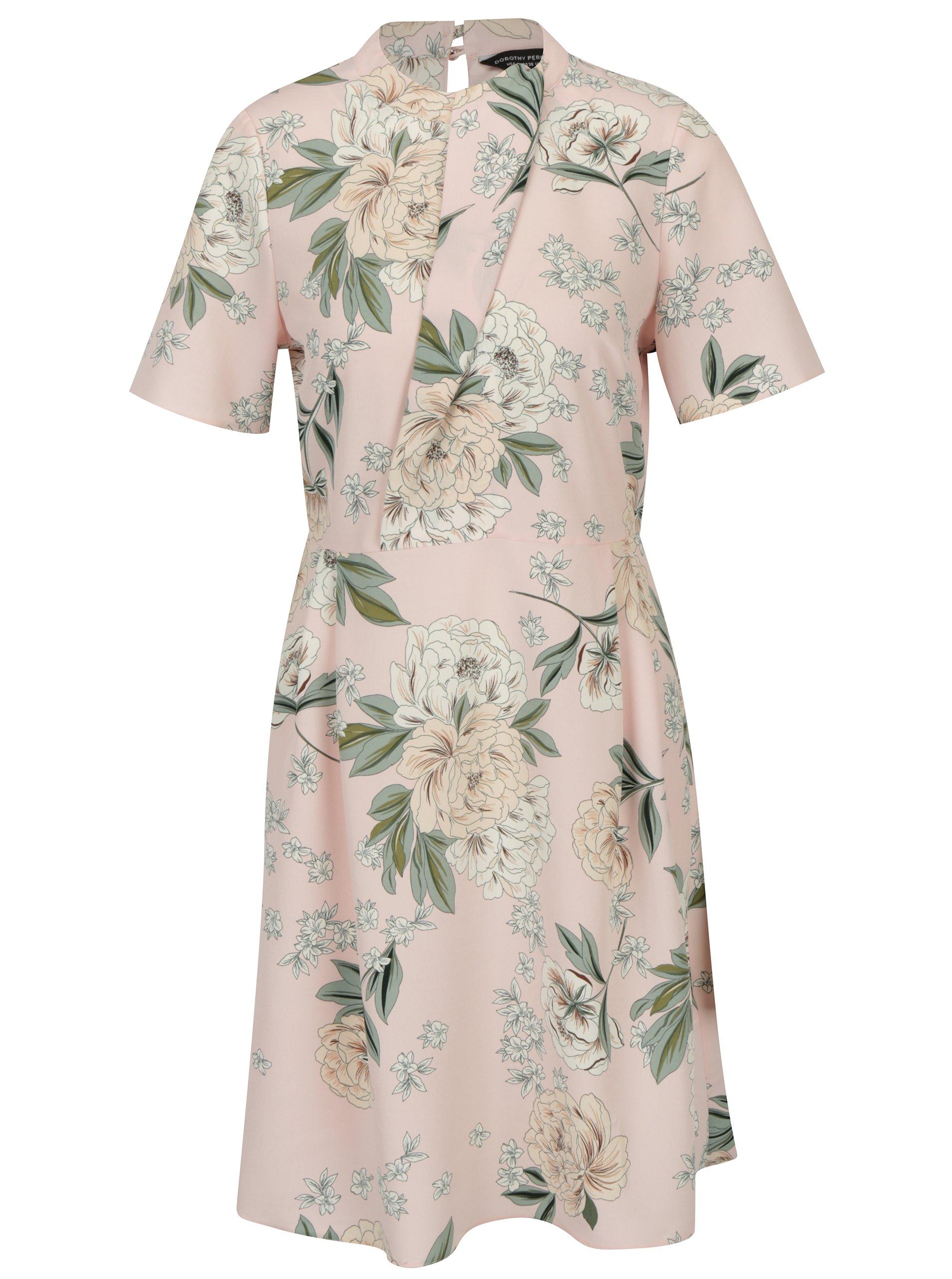 27909198ba13 Zeleno-ružové šaty s volánom Dorothy Perkins