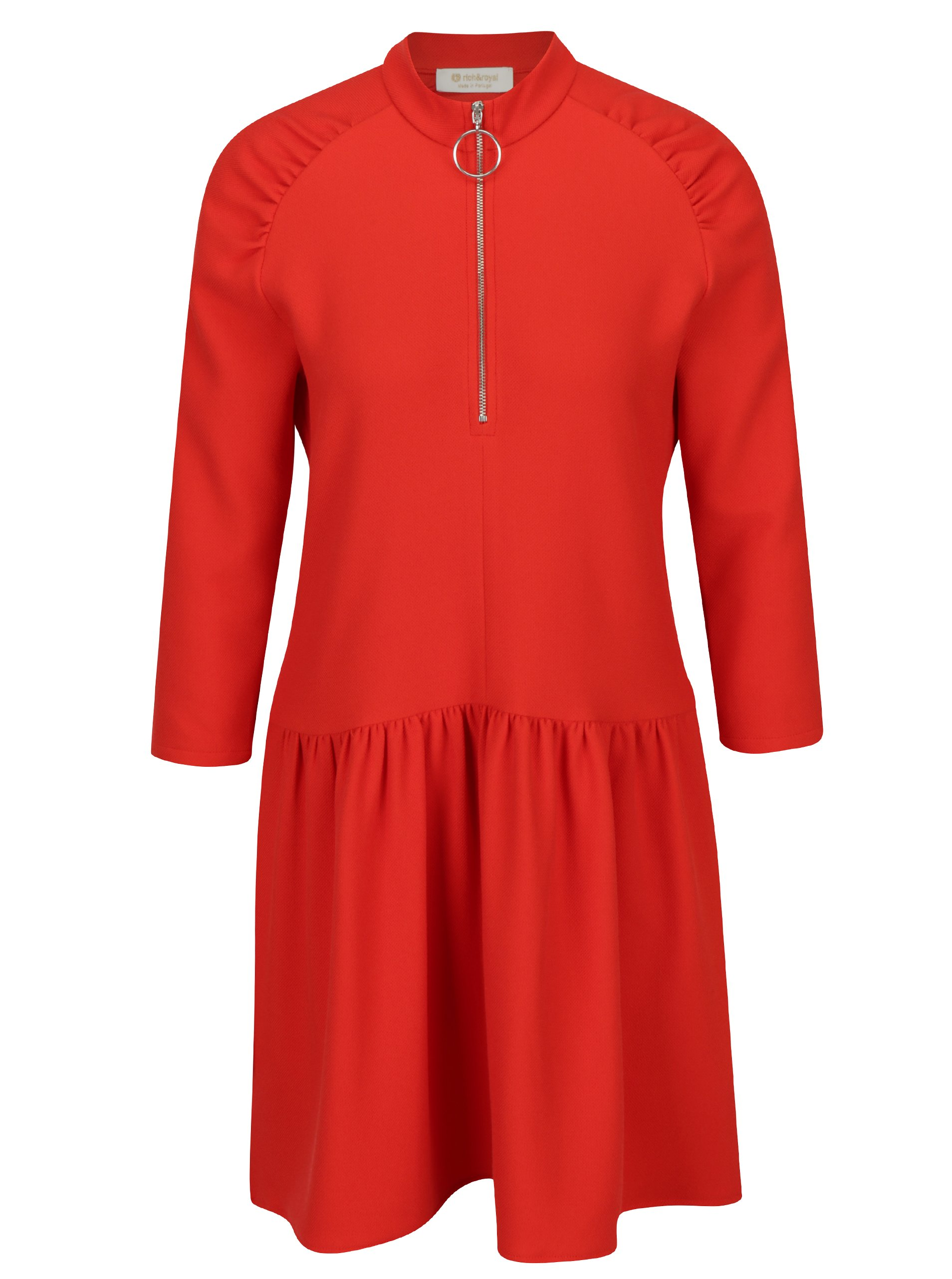 Červené šaty se zipem Rich & Royal