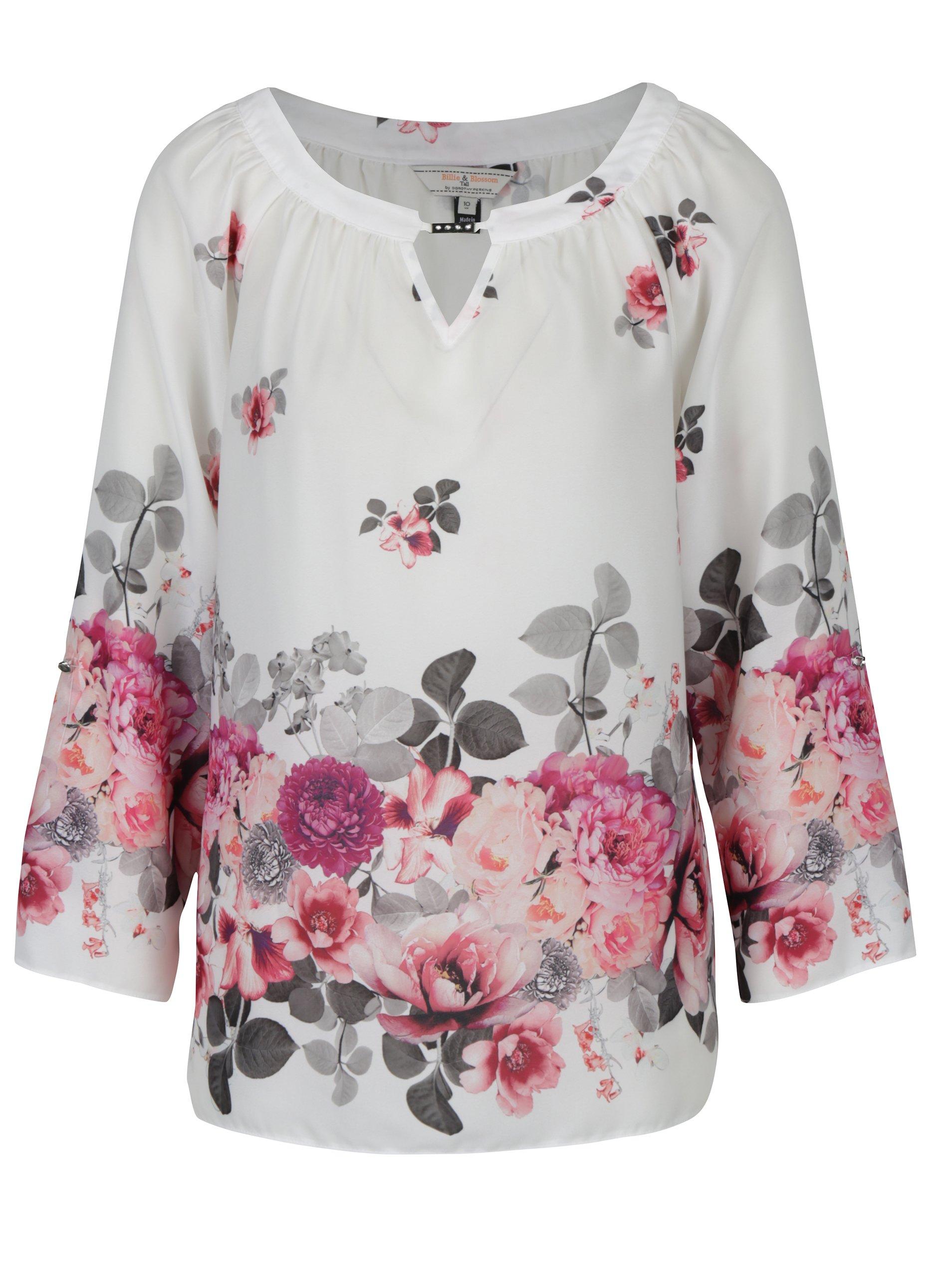 Bílá květovaná halenka Billie & Blossom