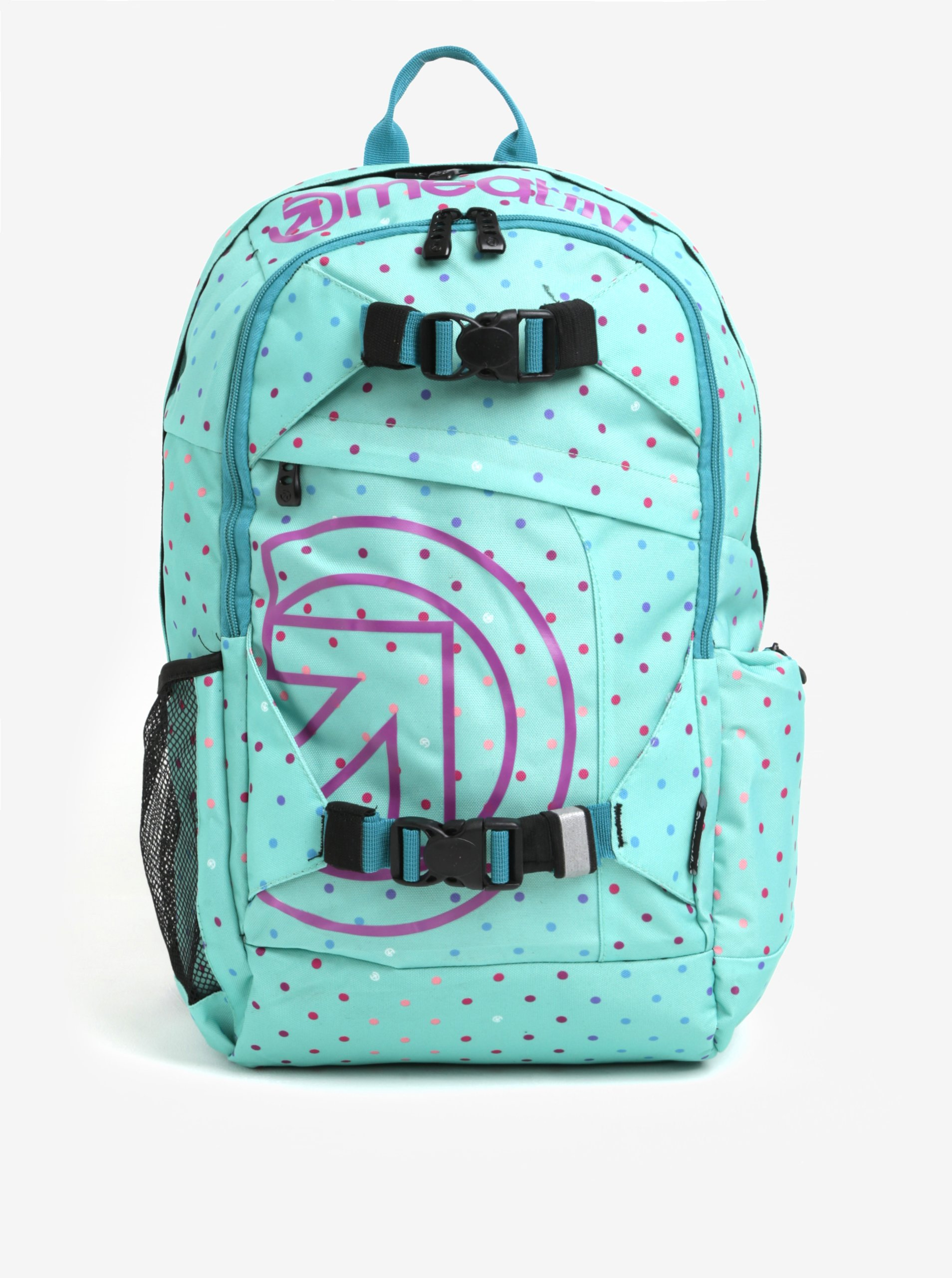 Zelený vzorovaný batoh Meatfly Basejumper 3 20 l