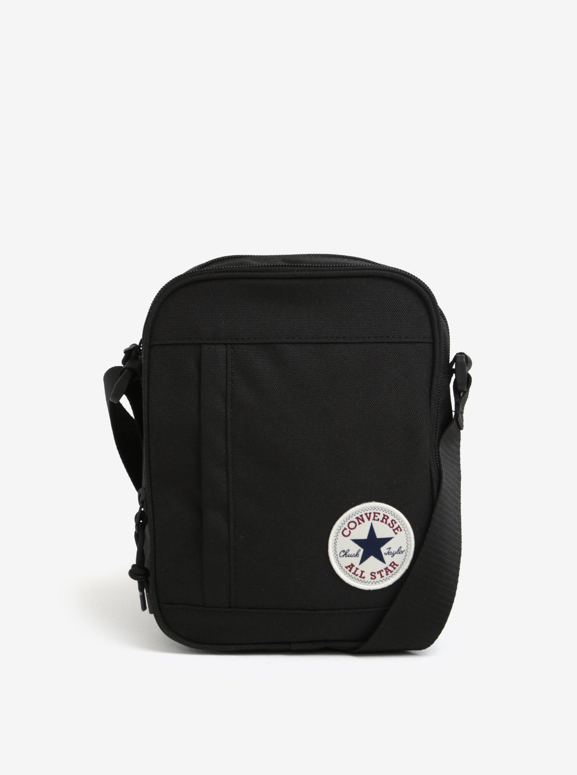 Černá unisex crossbody taška Converse Poly