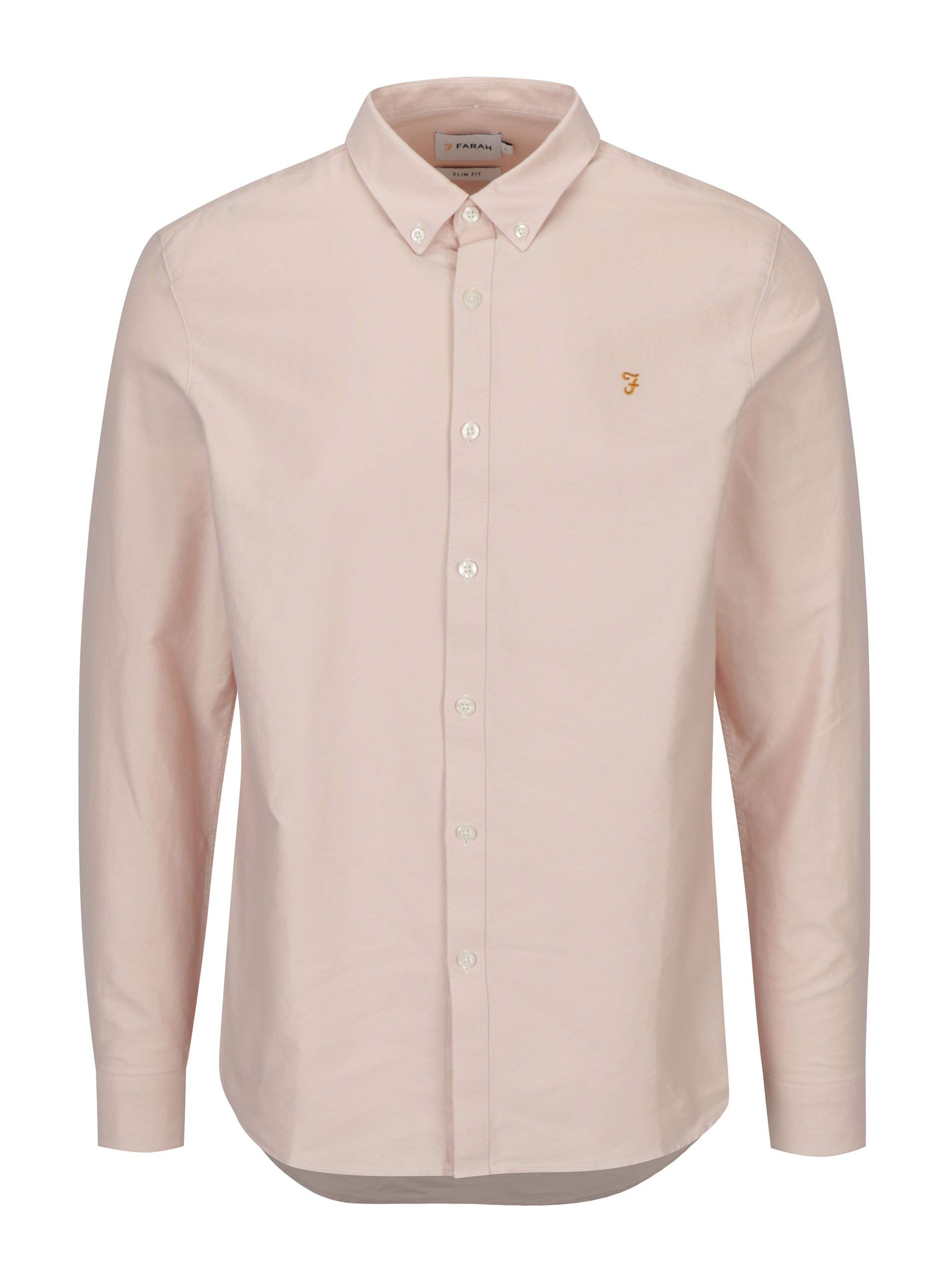 Světle růžová slim fit košile Farah Brewer 65a6cce2cd