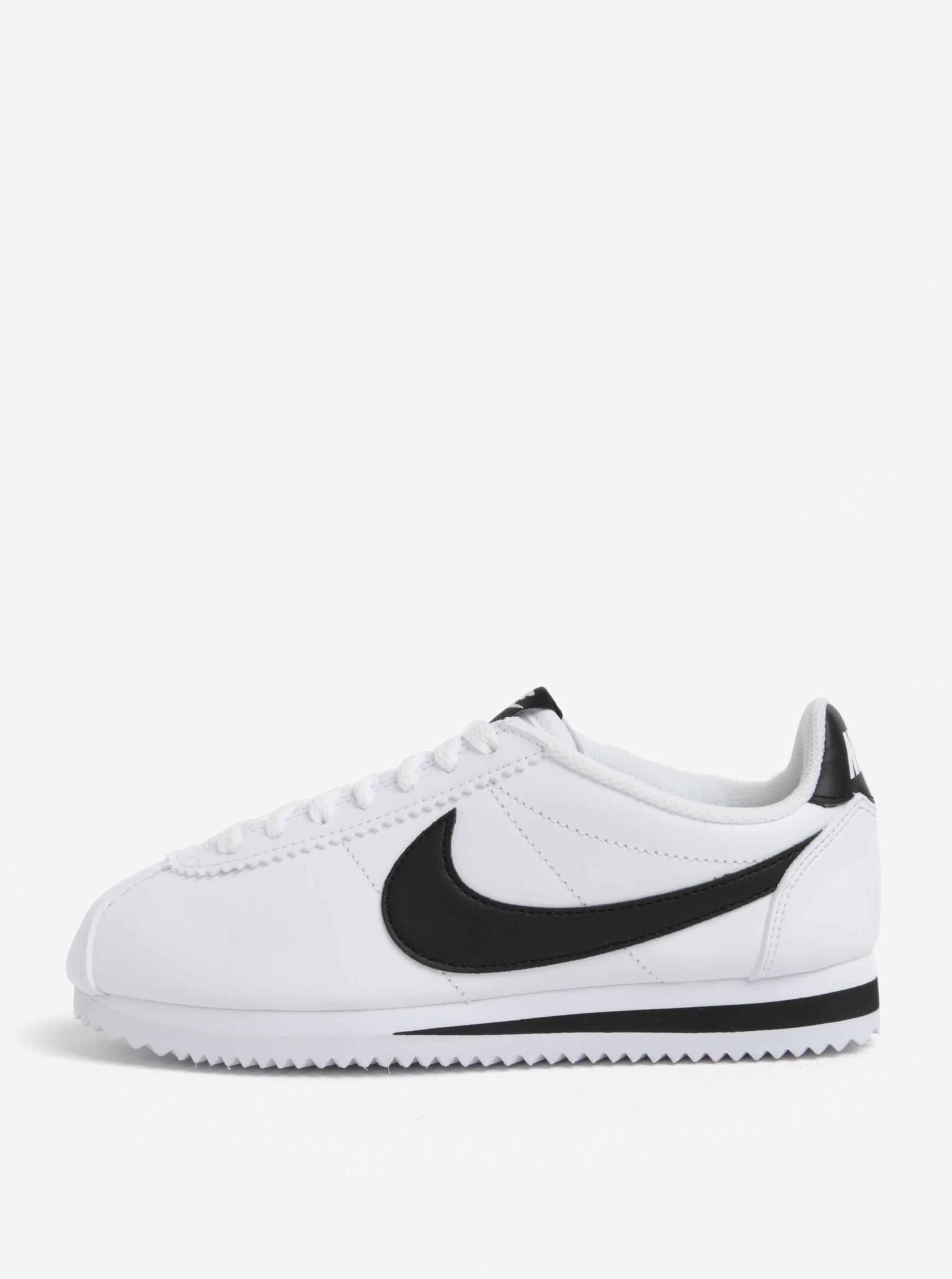 Čierno-biele dámske tenisky Nike Classic Cortez