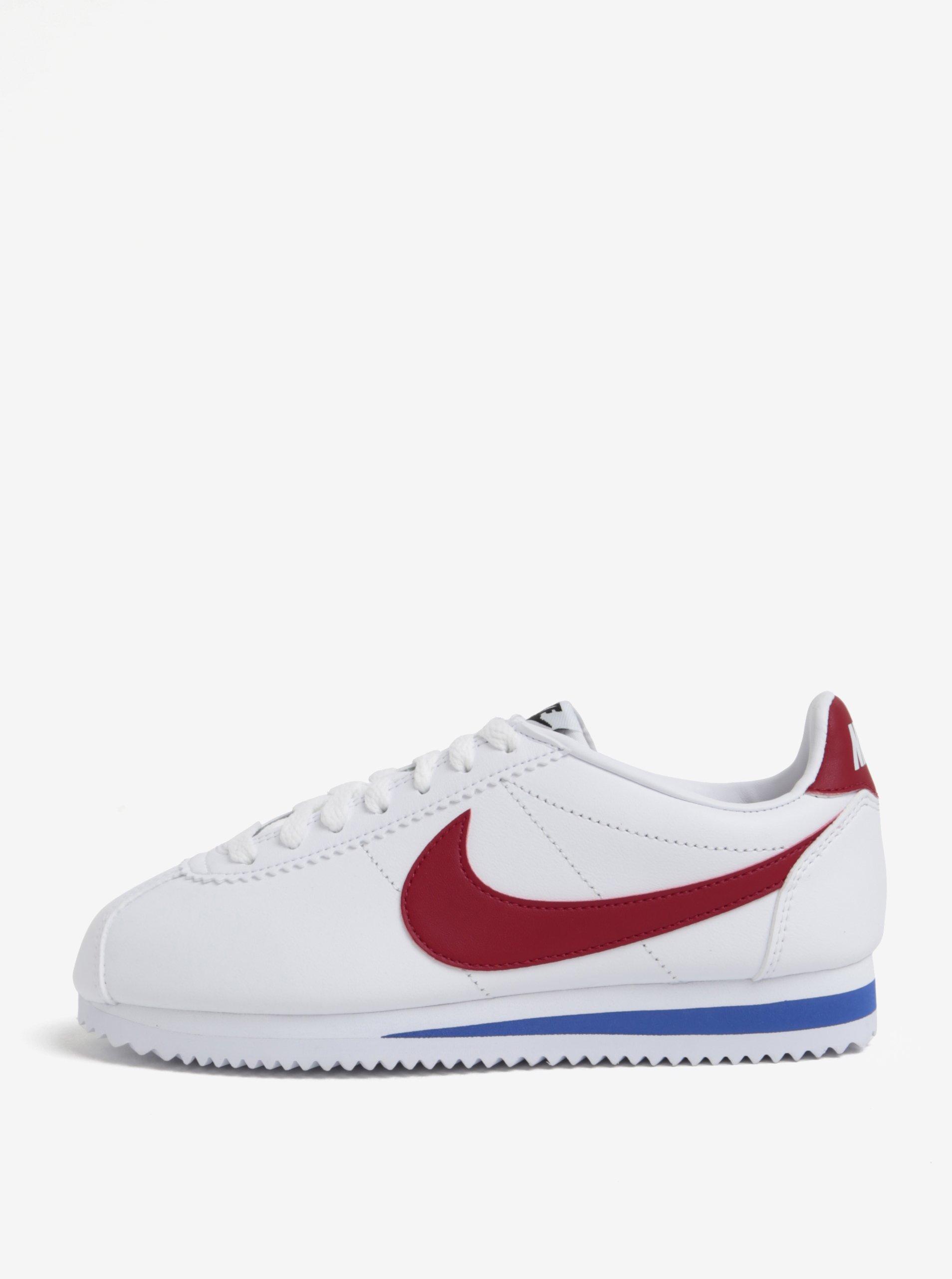 a828296b643 Bílé dámské kožené tenisky Nike Classic Cortez