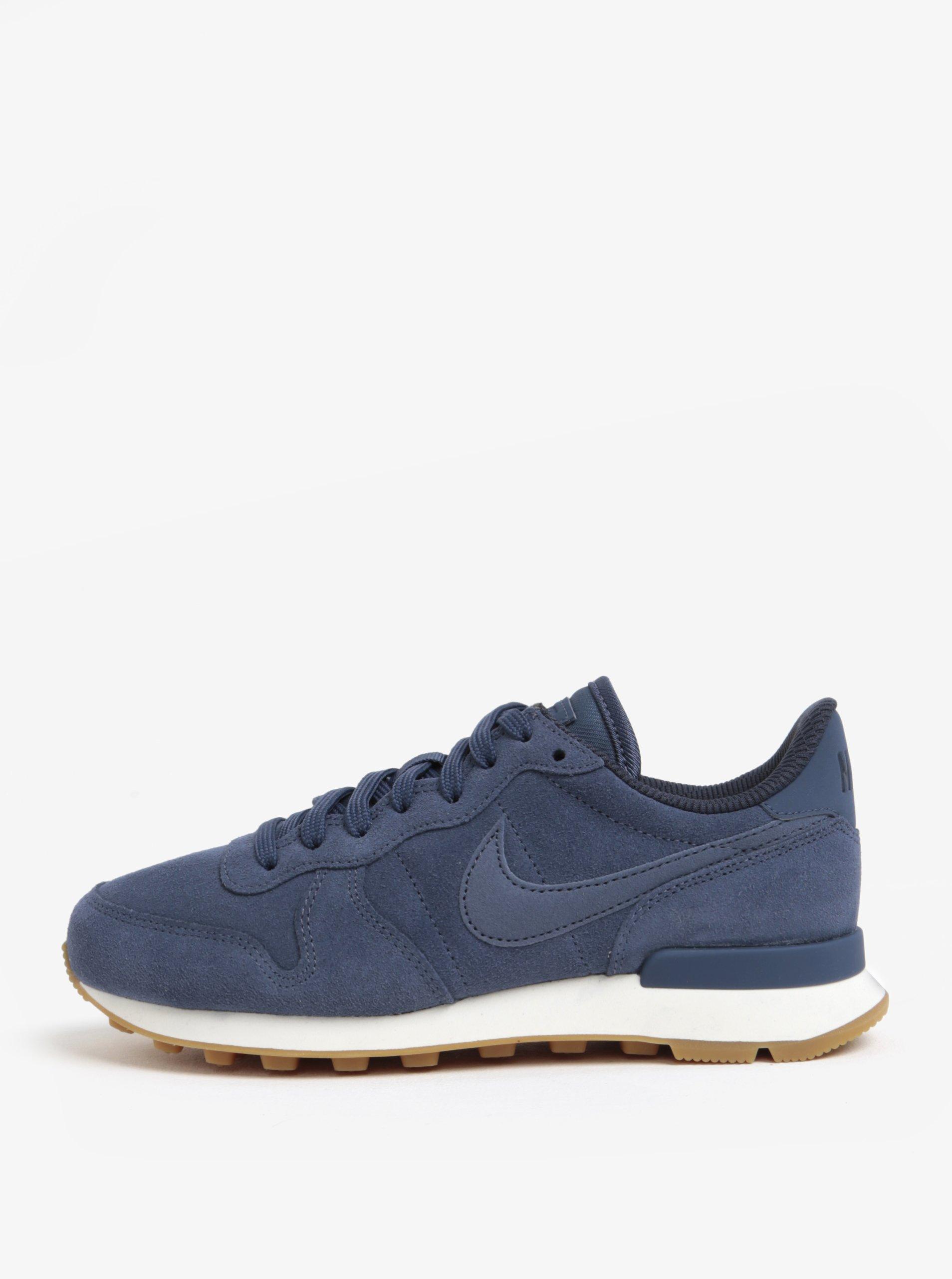 Tmavě modré dámské semišové tenisky Nike Internationalist