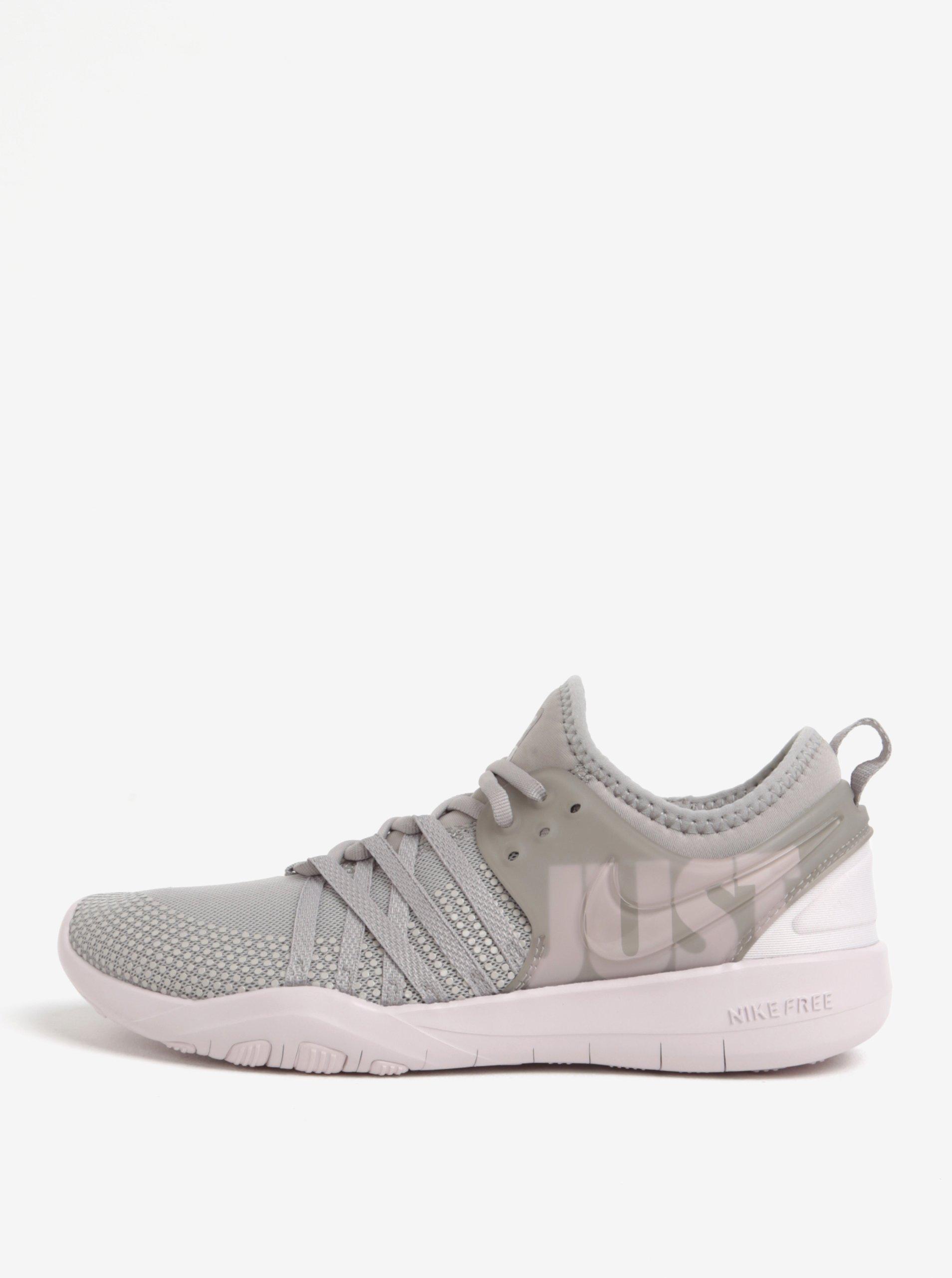 2297b6c55b4 Světle šedé dámské tenisky Nike Free TR 7 Premium Training