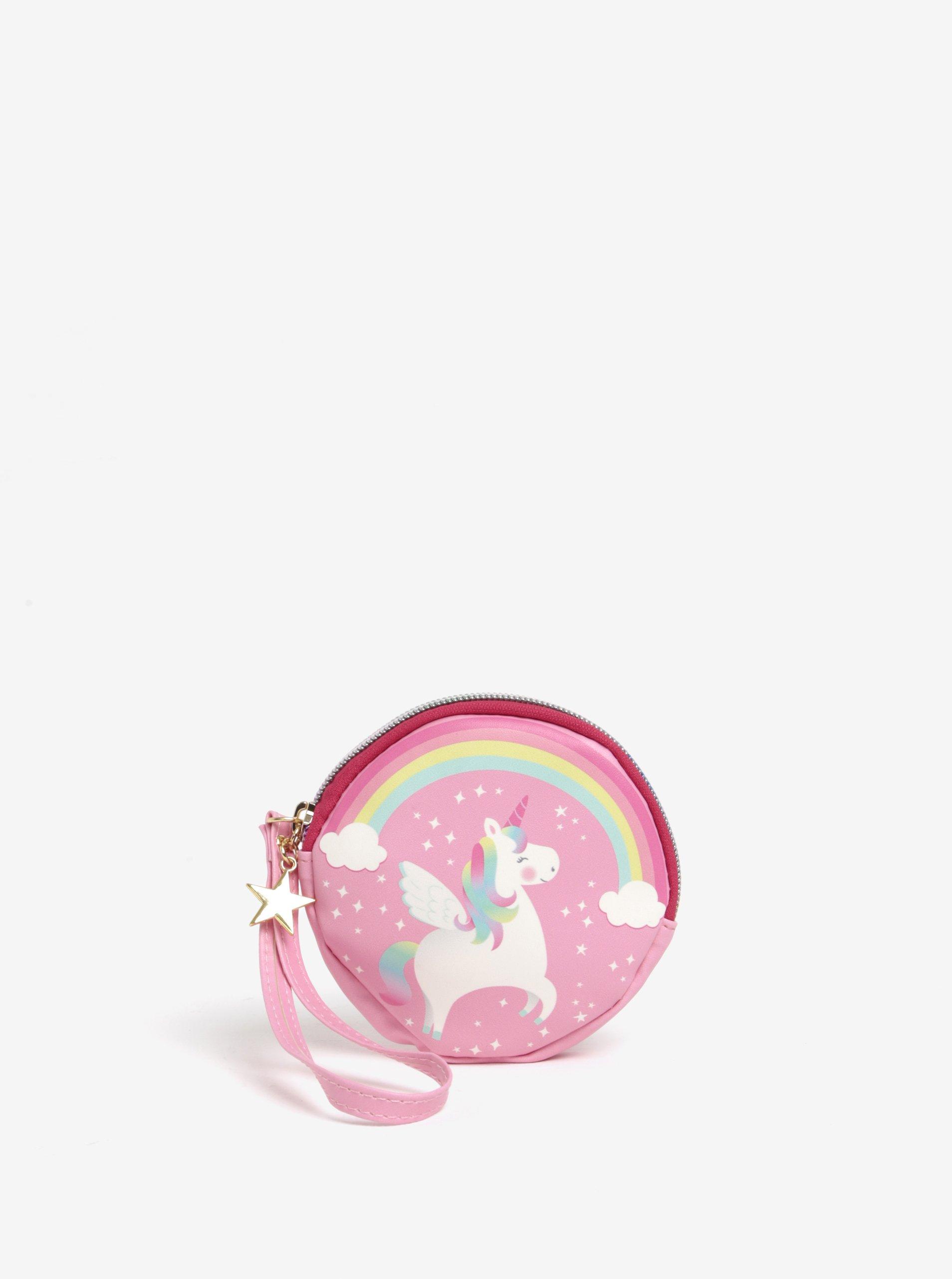 Růžová holčičí peněženka s motivem jednorožce Sass & Belle