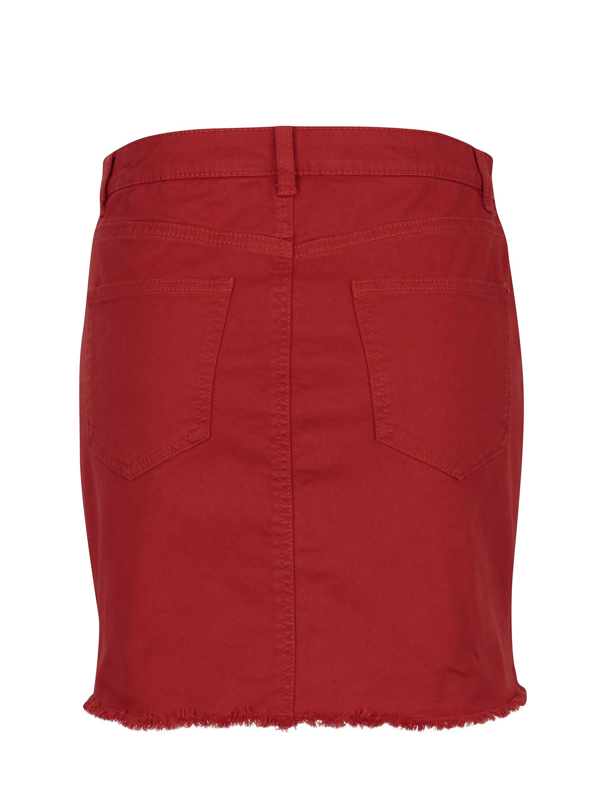 Červená džínová sukně Noisy May Nicole - eleganter.cz 58e2b19be9