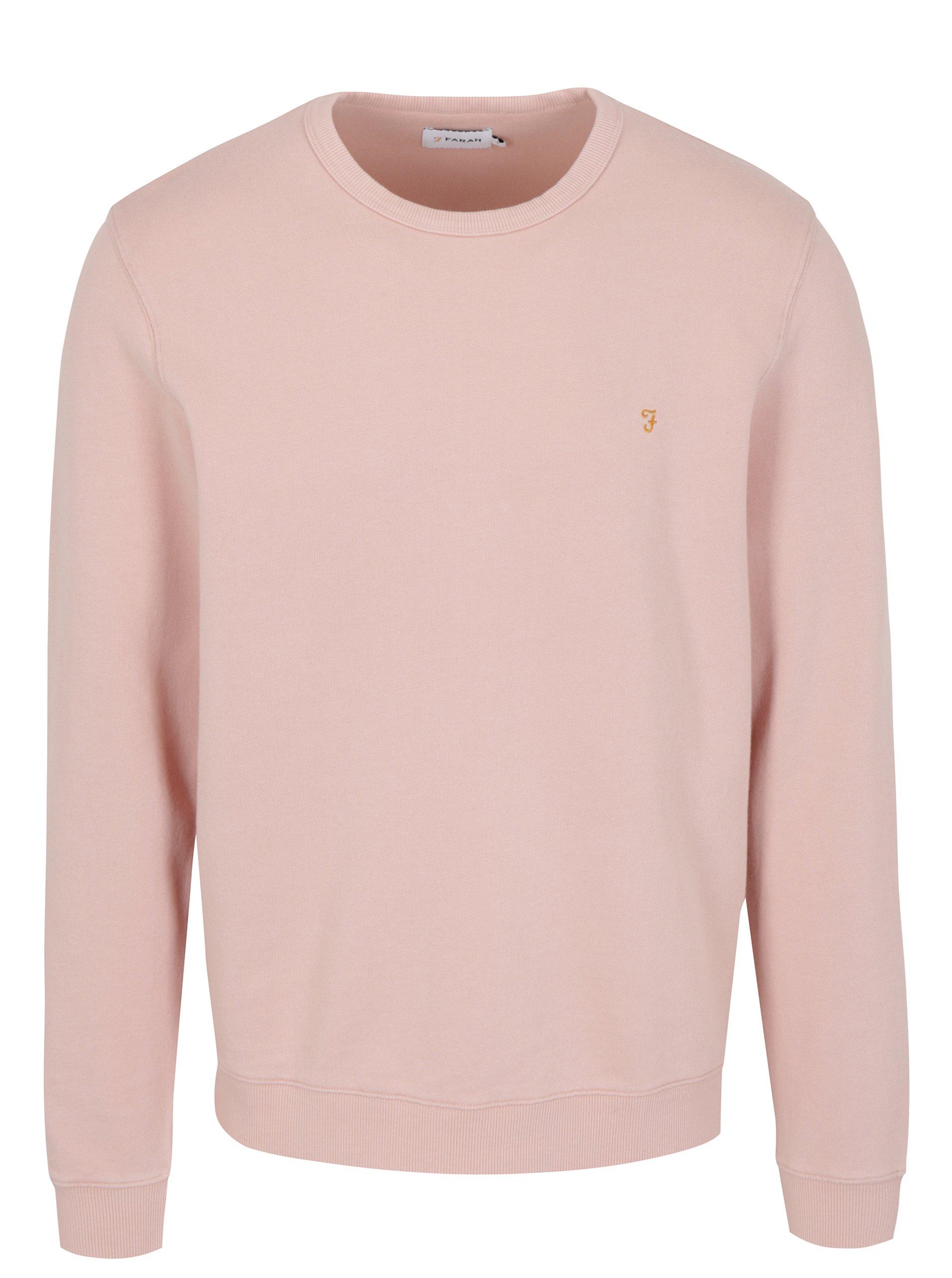 Světle růžová mikina Farah Pickwell 50f56520984