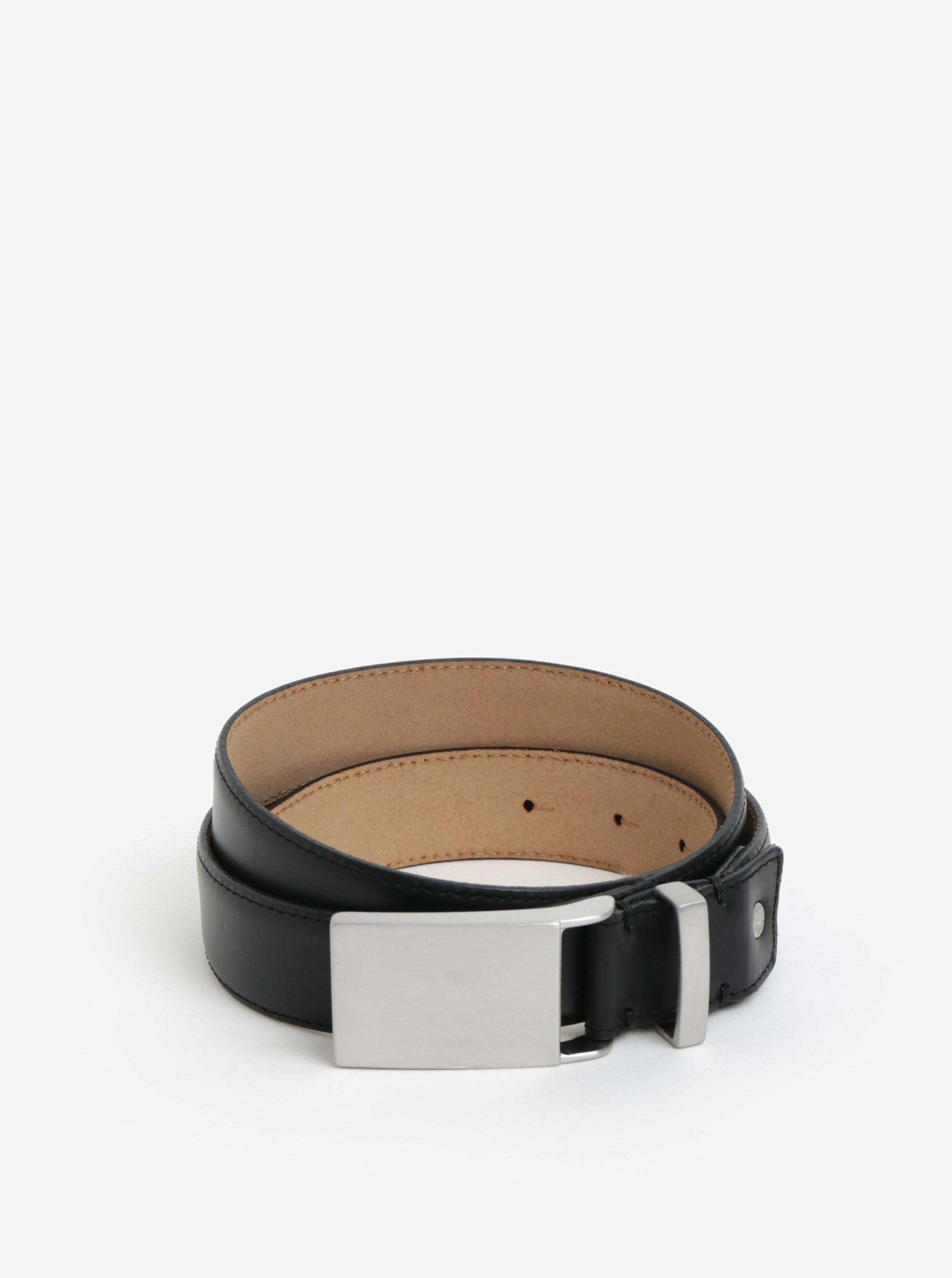 63257fd5268 Černý pánský kožený pásek Selected Homme Baxter