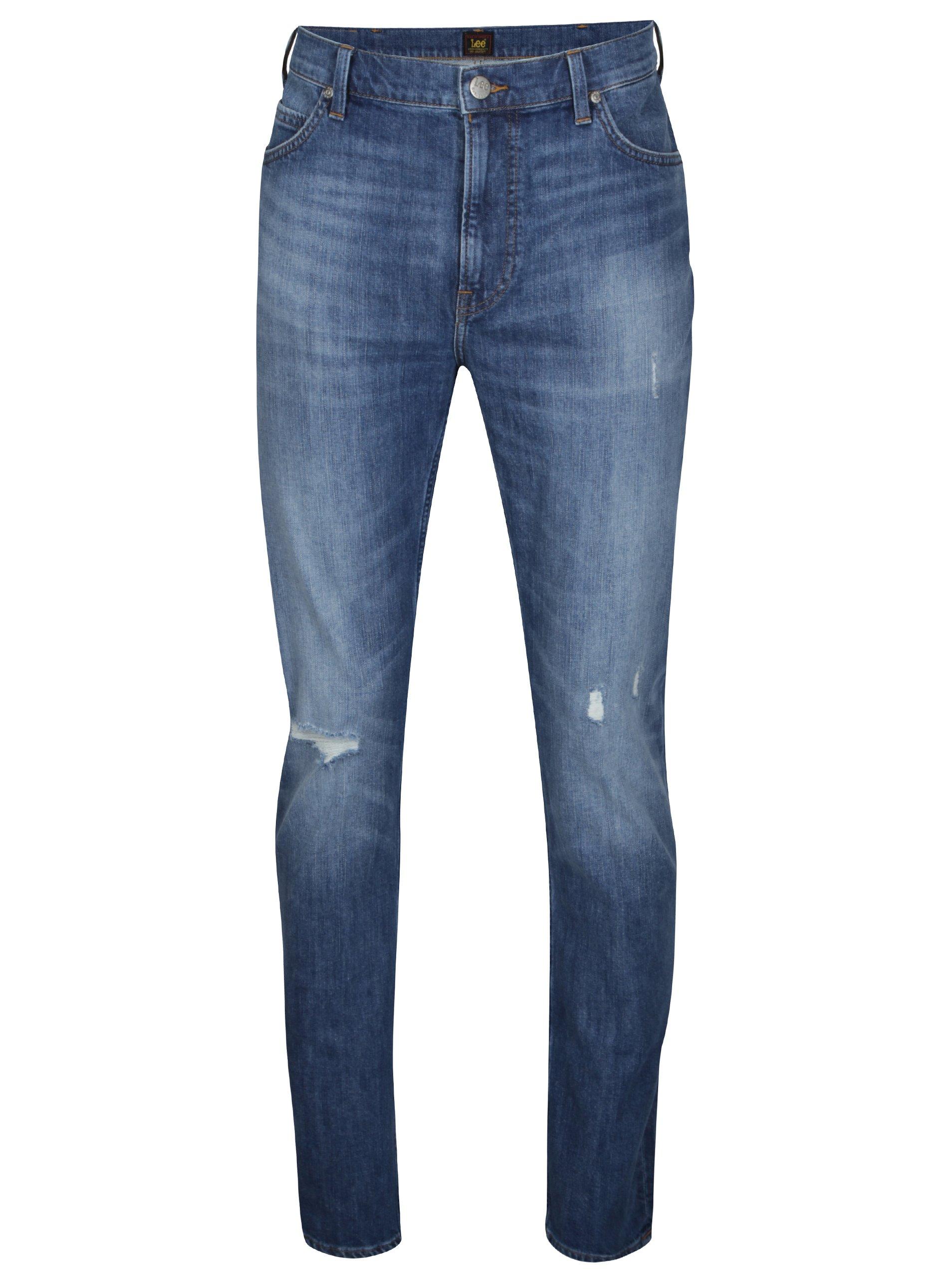Modré pánské slim džíny Lee 2ab40415bd