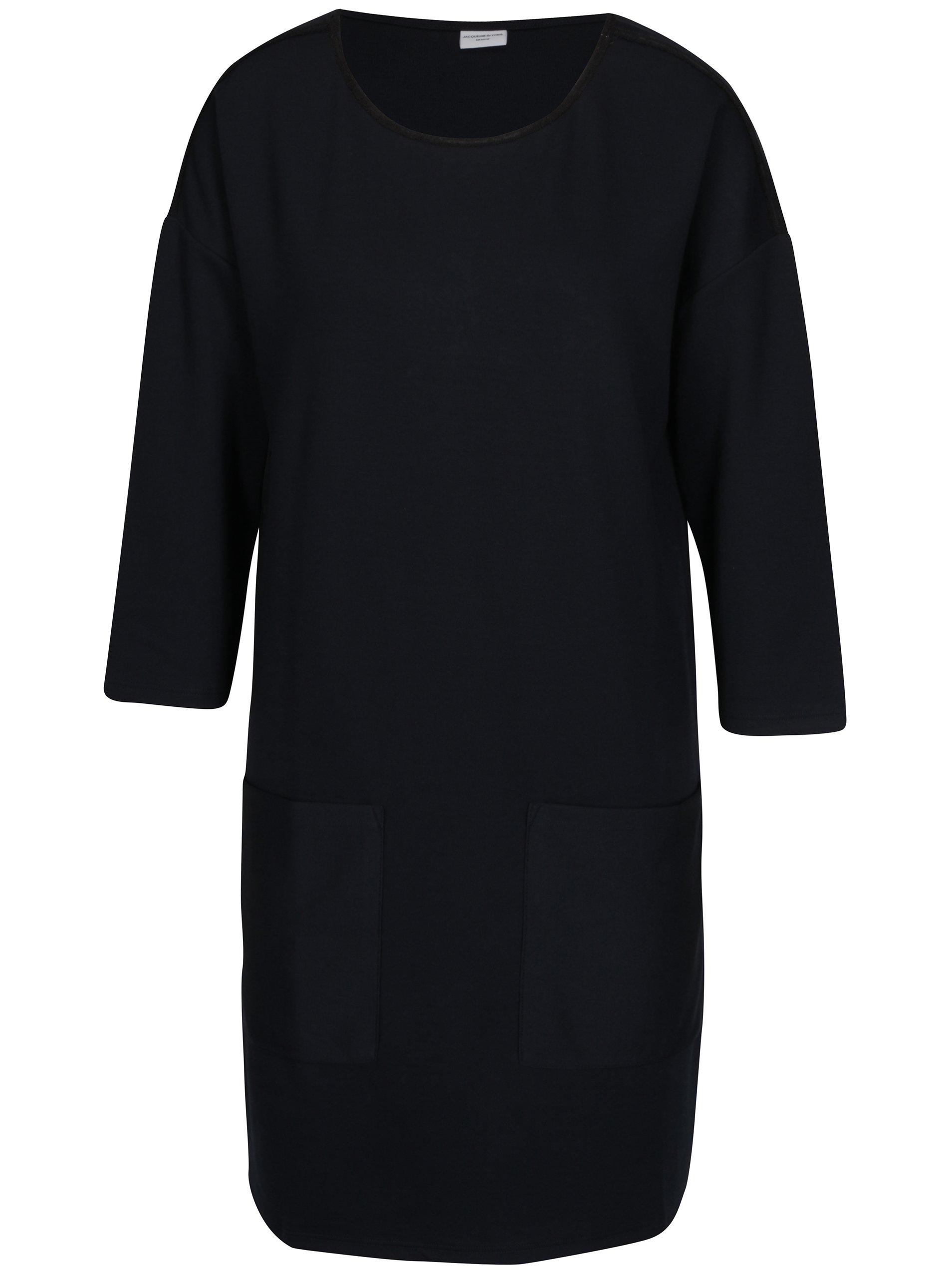 Tmavomodré šaty s 3/4 rukávom Jacqueline de Yong Agnes