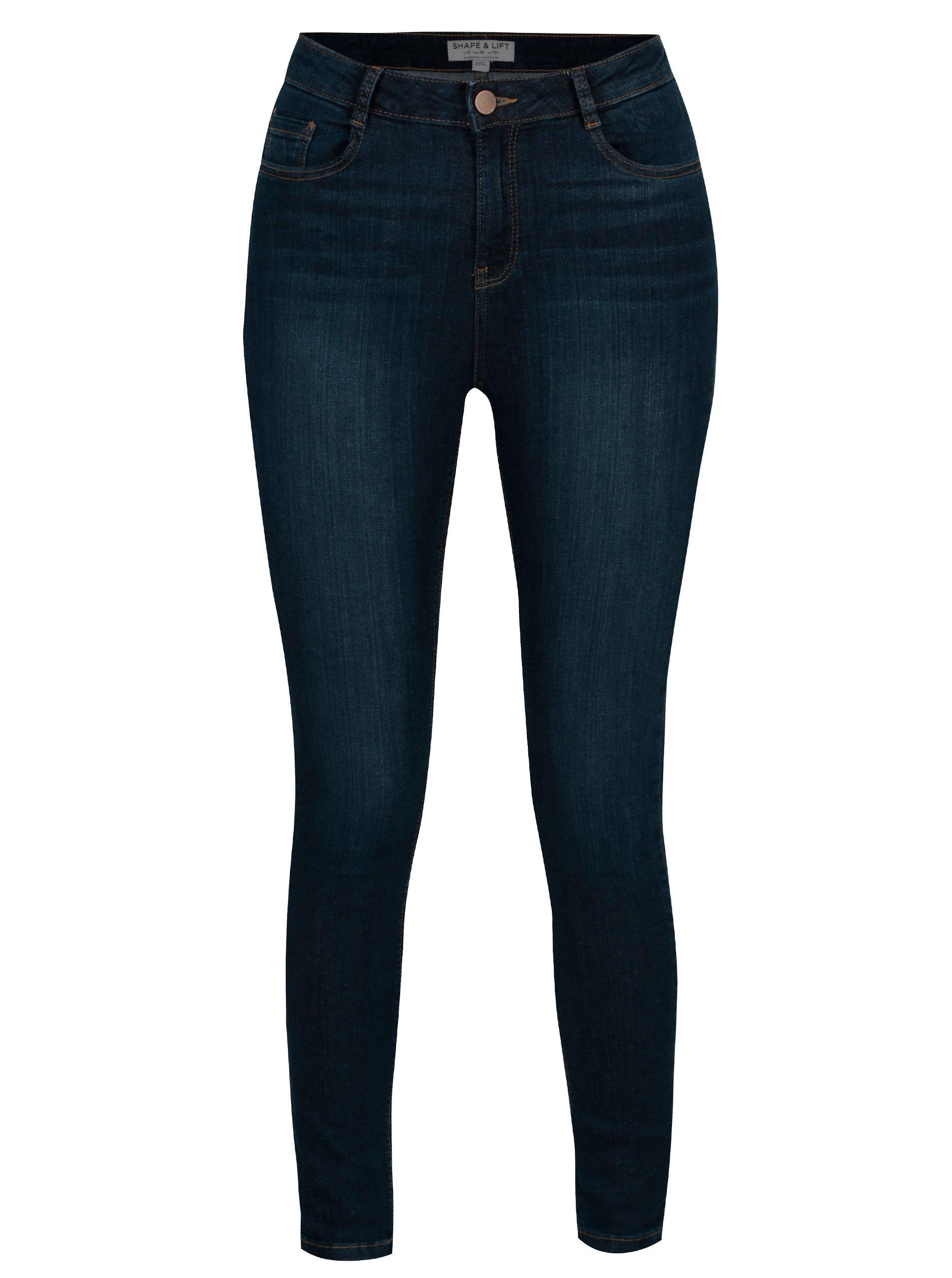 aabcc7130a9 Modré regular džíny s vysokým pasem Dorothy Perkins Shape   Lift