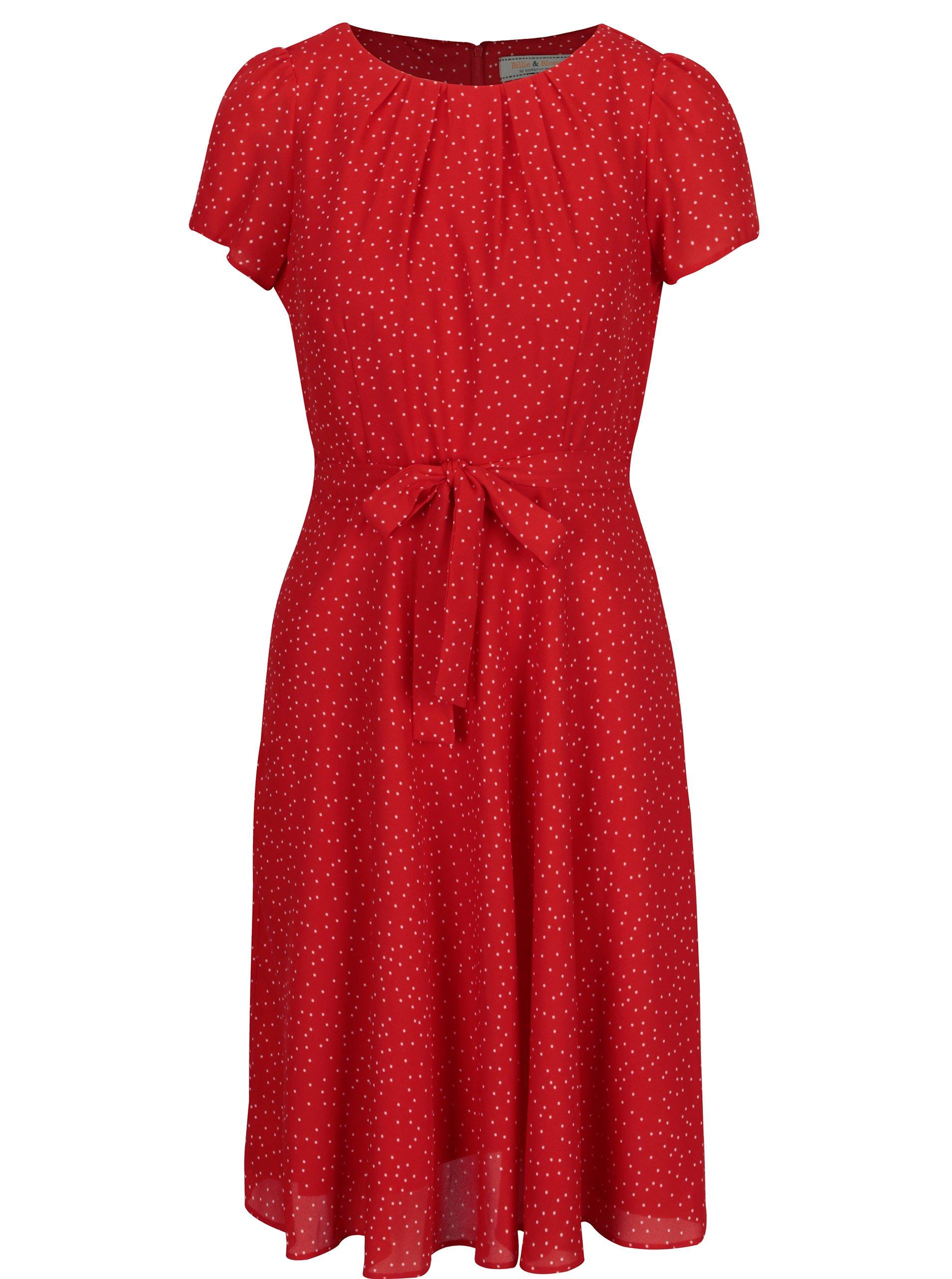 Červené puntíkované šaty Billie & Blossom