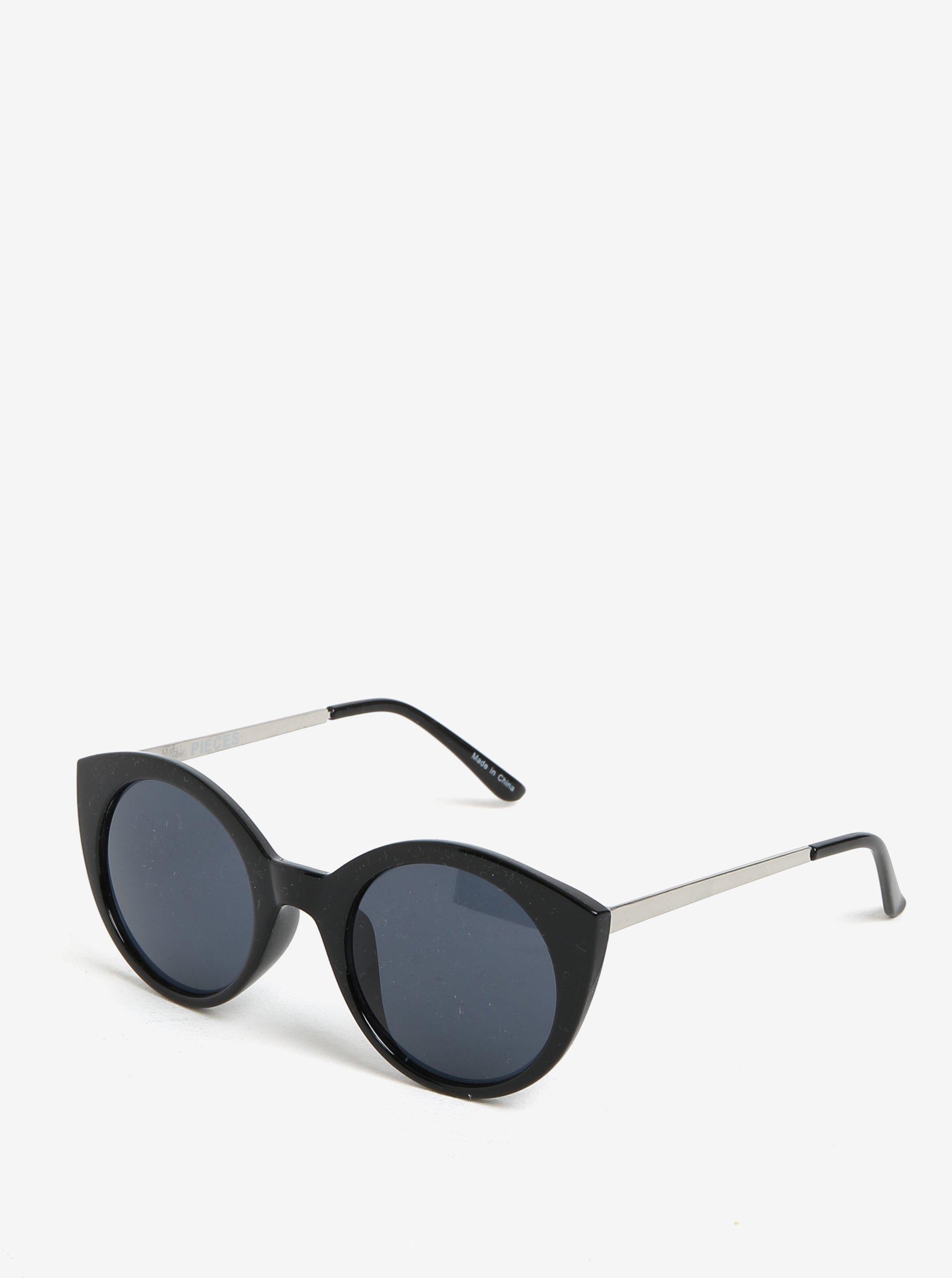 Černé sluneční brýle Pieces Malisa