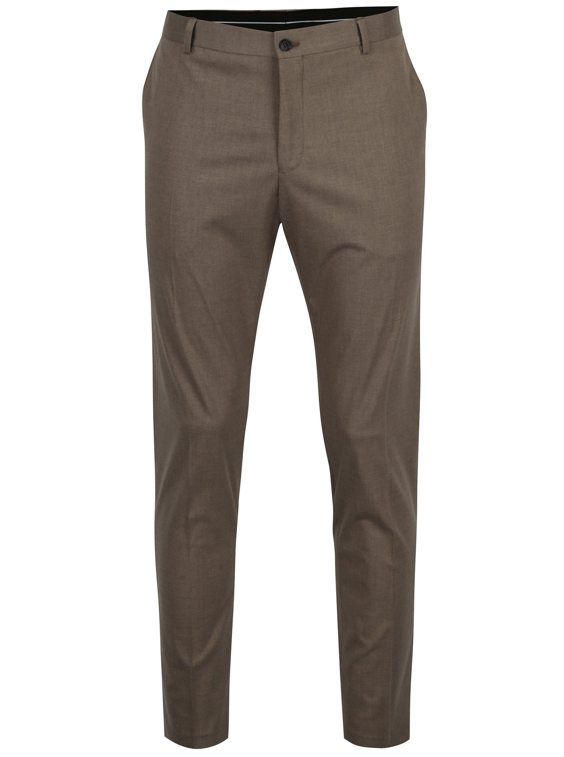 Hnědé oblekové kalhoty Selected Homme New one