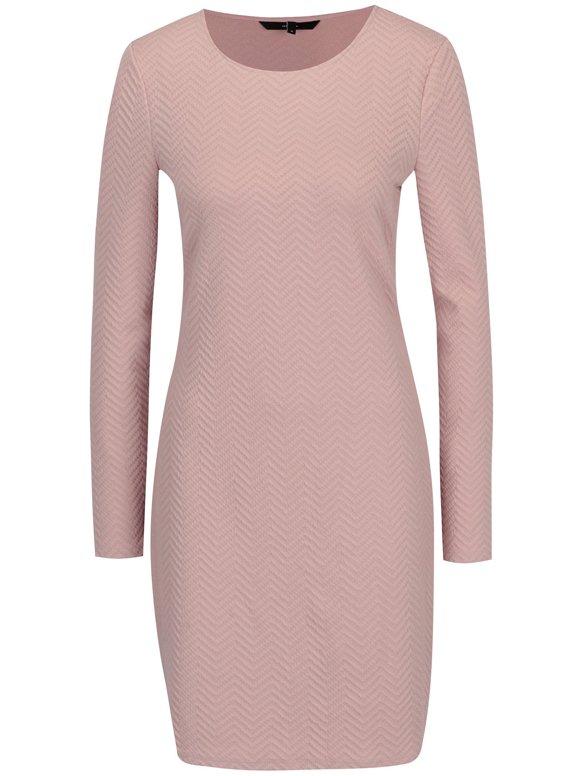 Světle růžové šaty VERO MODA Jazelda