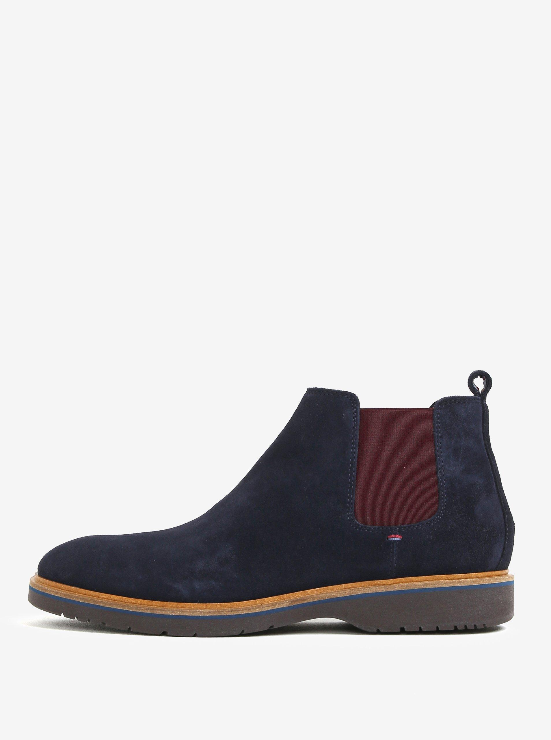 38bdca6c49 Tmavomodré pánske semišové chelsea topánky Tommy Hilfiger