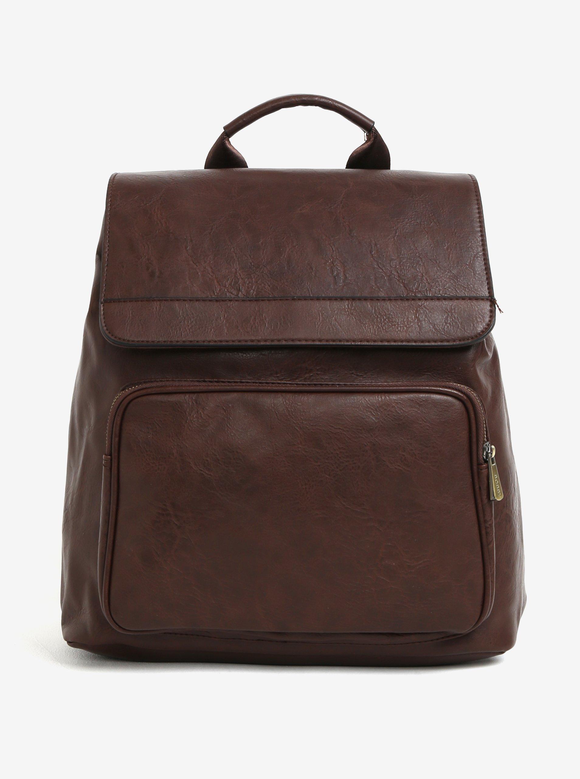 Tmavohnedý batoh s chlopňou Bobby Black